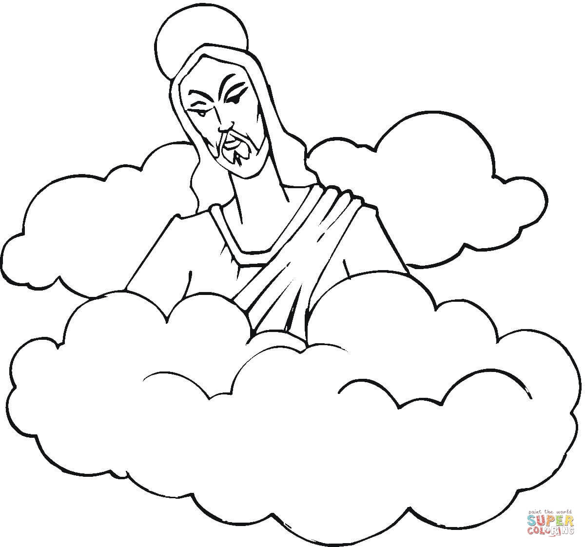 Jesus Ascension Coloring Page Free Coloring Pages Download | Xsibe ...