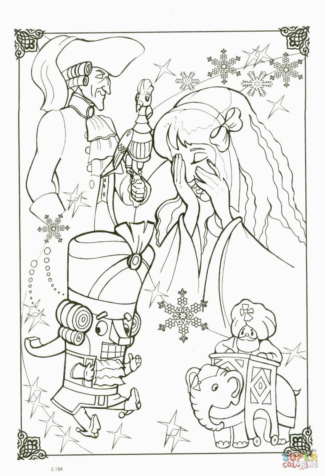 Marie And Nutcracker Coloring Page Free Printable