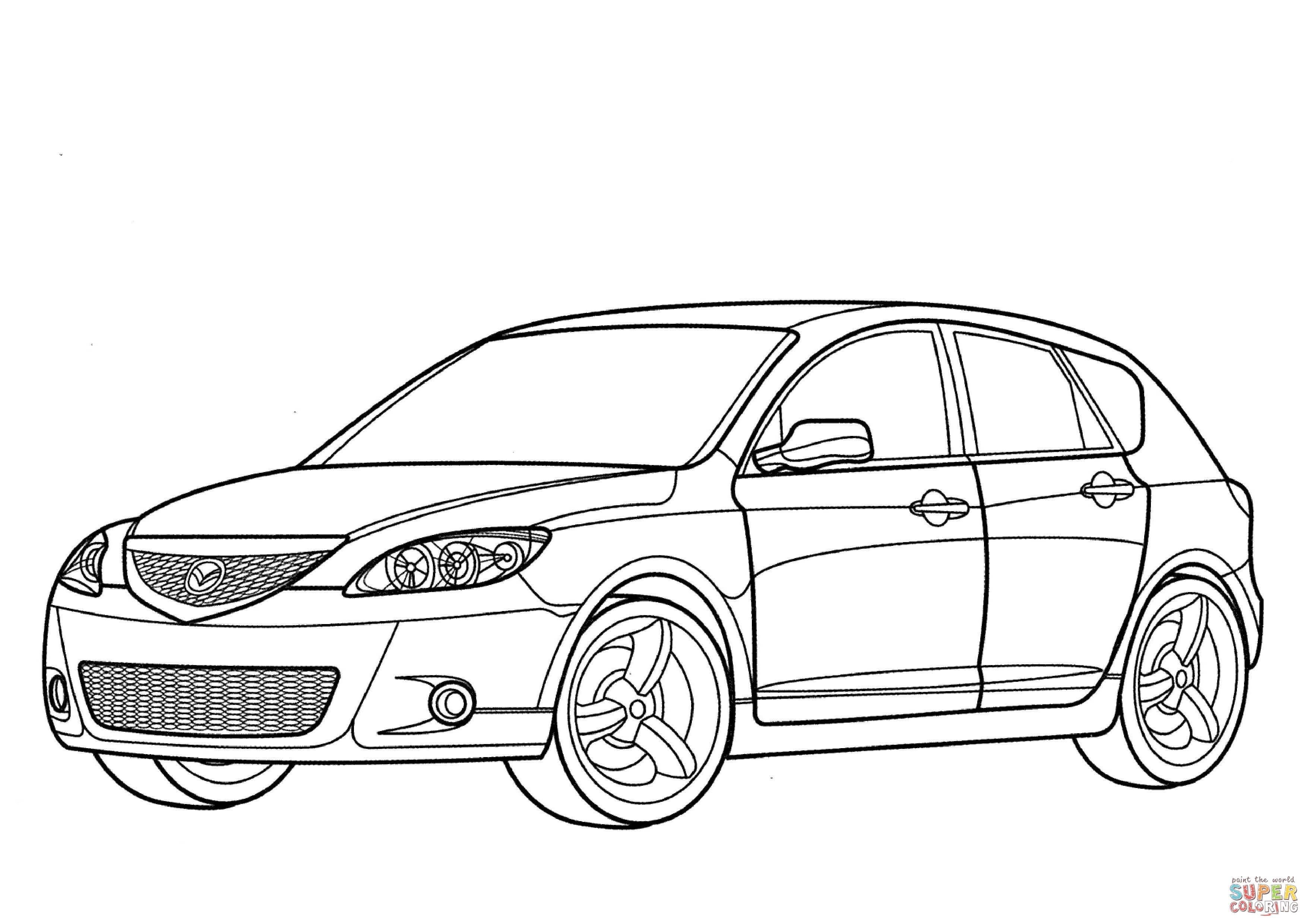 Mazda 3 Hatchback Coloring Page