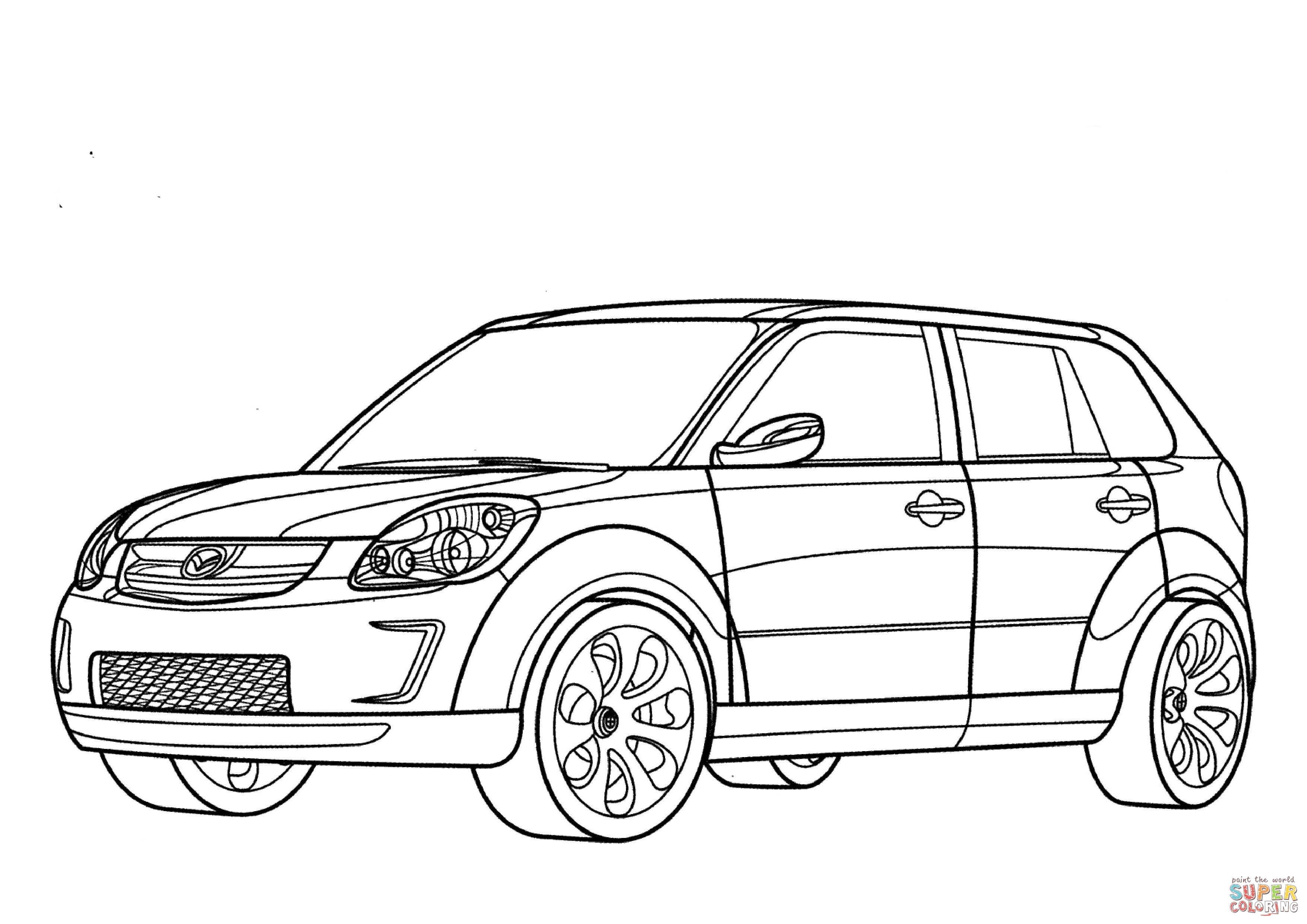 Mazda Verisa Kleurplaat