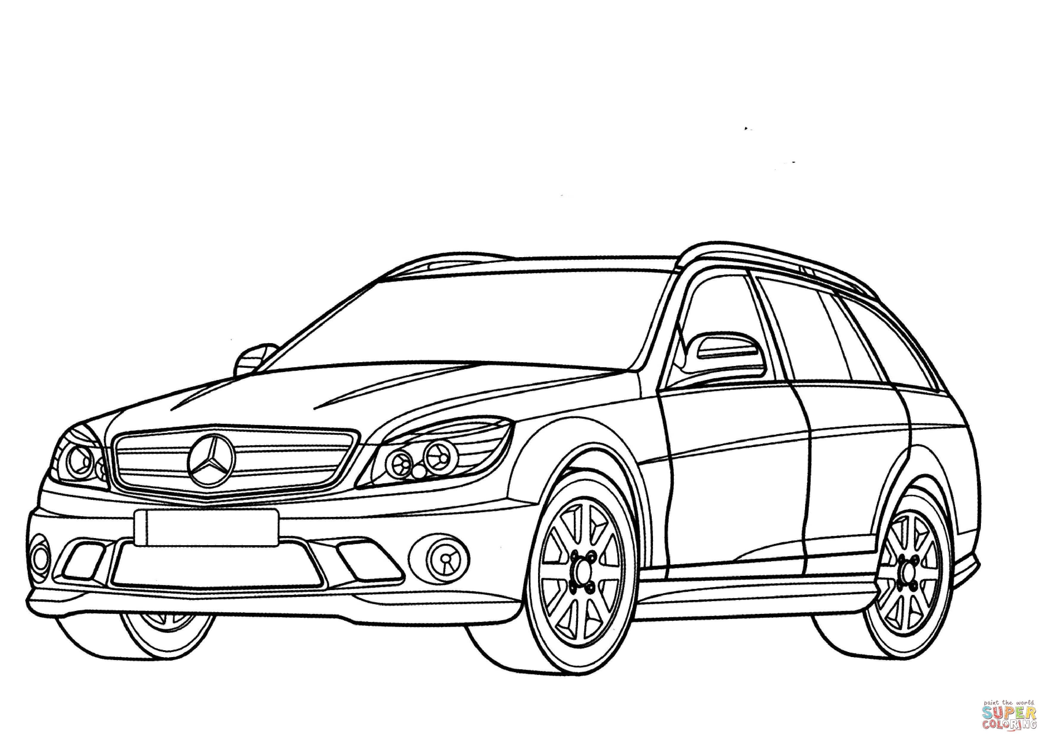 Disegno Di Mercedes Benz Classe C Station Wagon Da