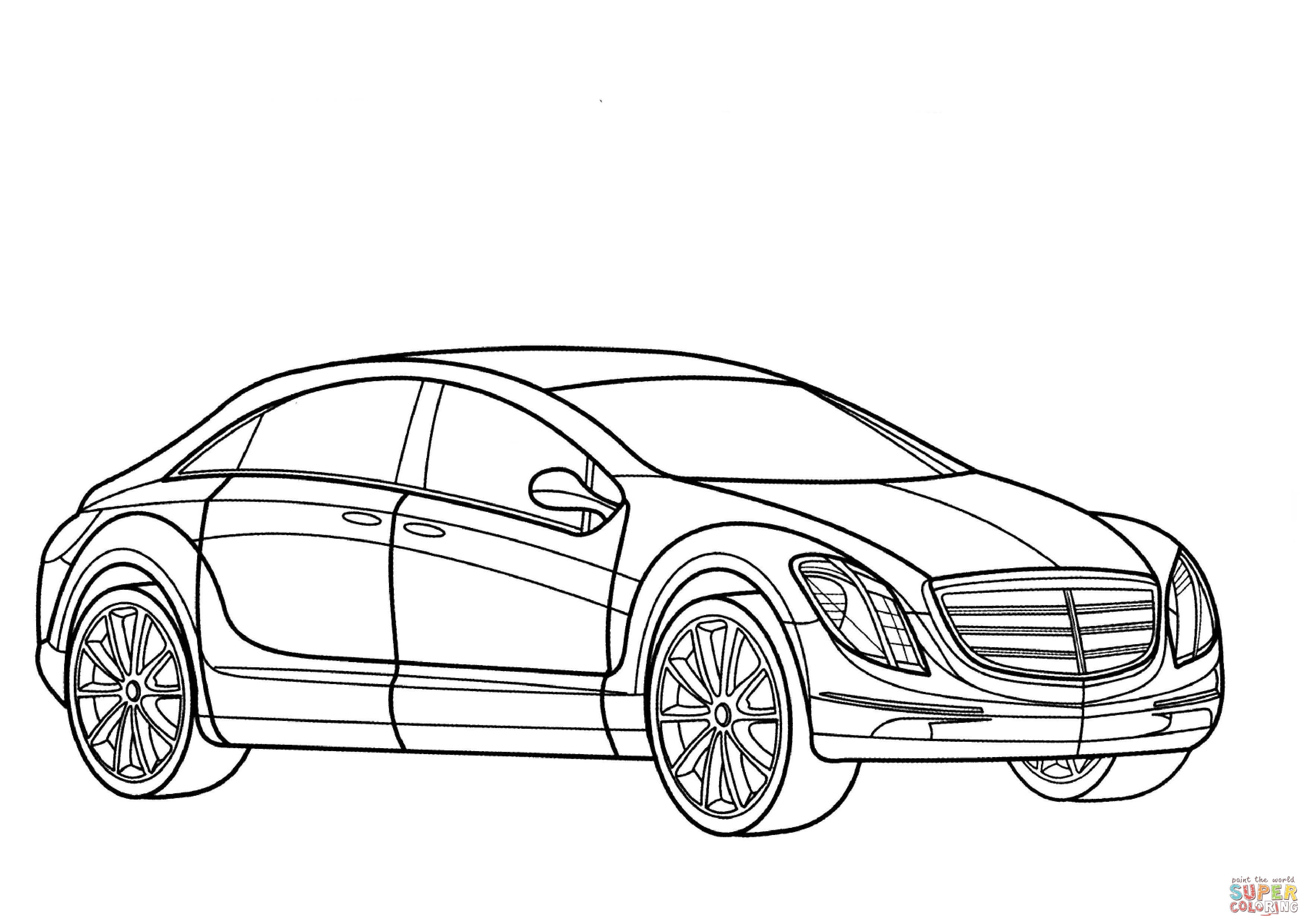Mercedes E700 Coloring Page