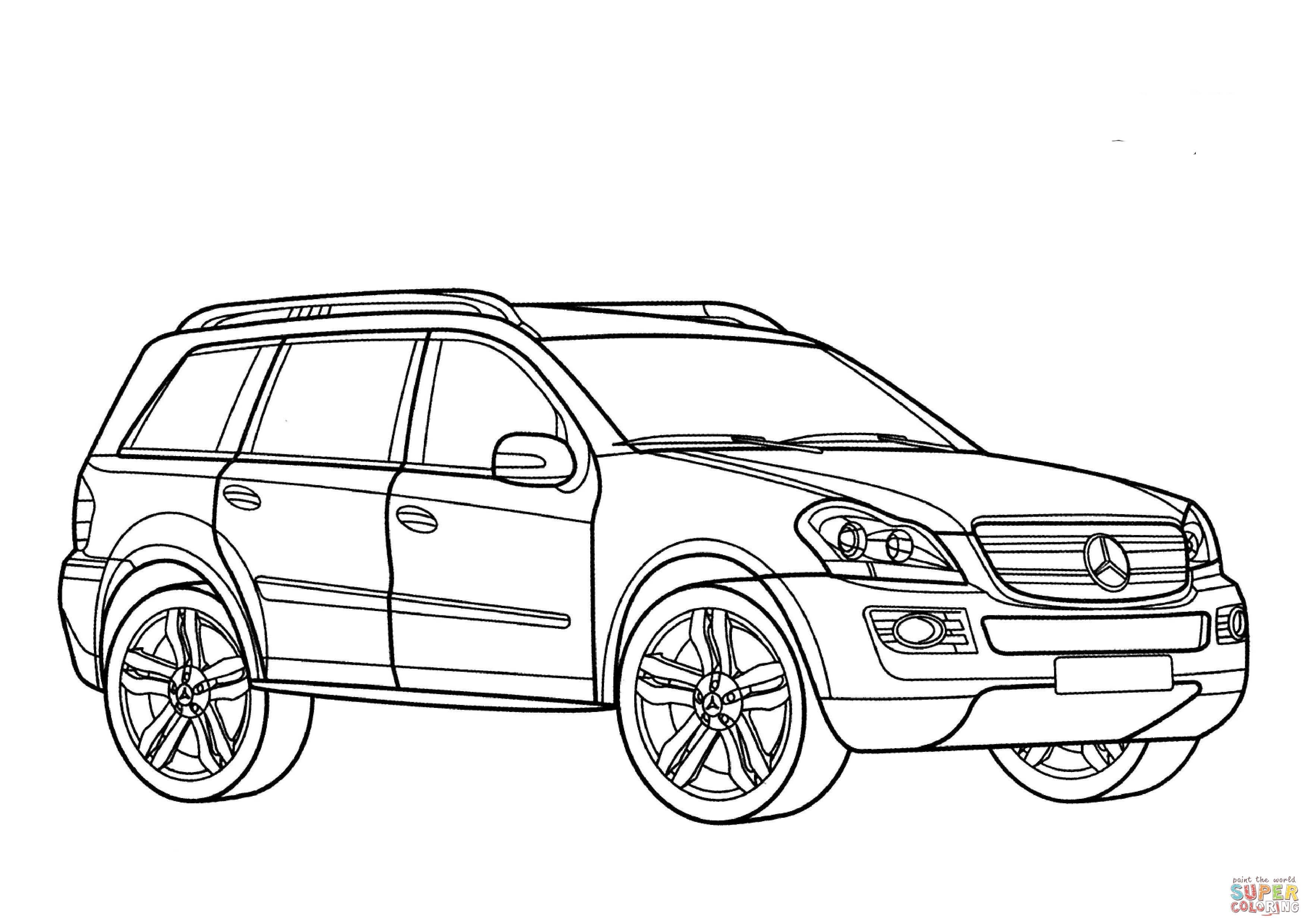 Disegno Di Mercedes Benz Classe Gl Da Colorare