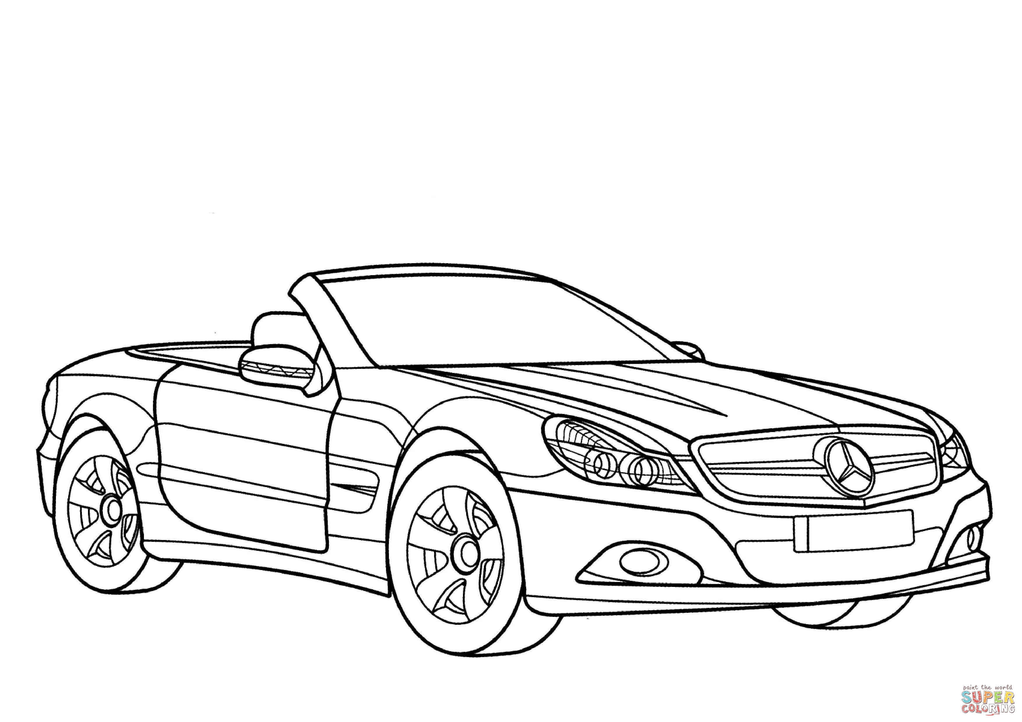 Mercedes Benz Sl Class Coloring Page