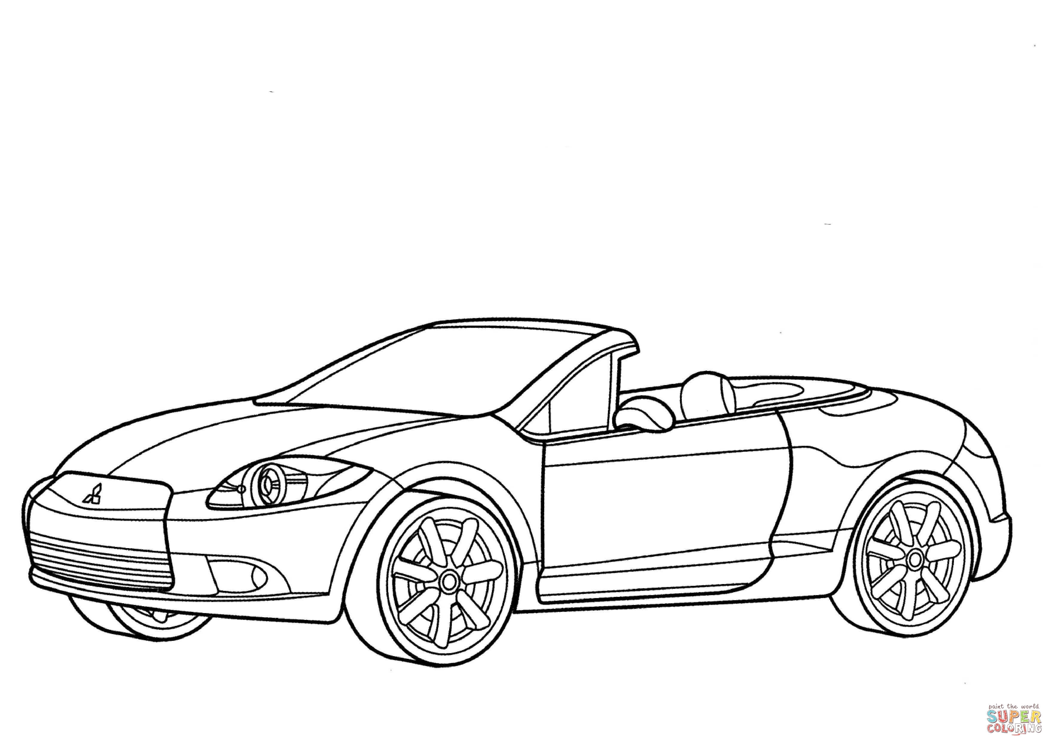 Mitsubishi Eclipse Spyder Gt Coloring Page