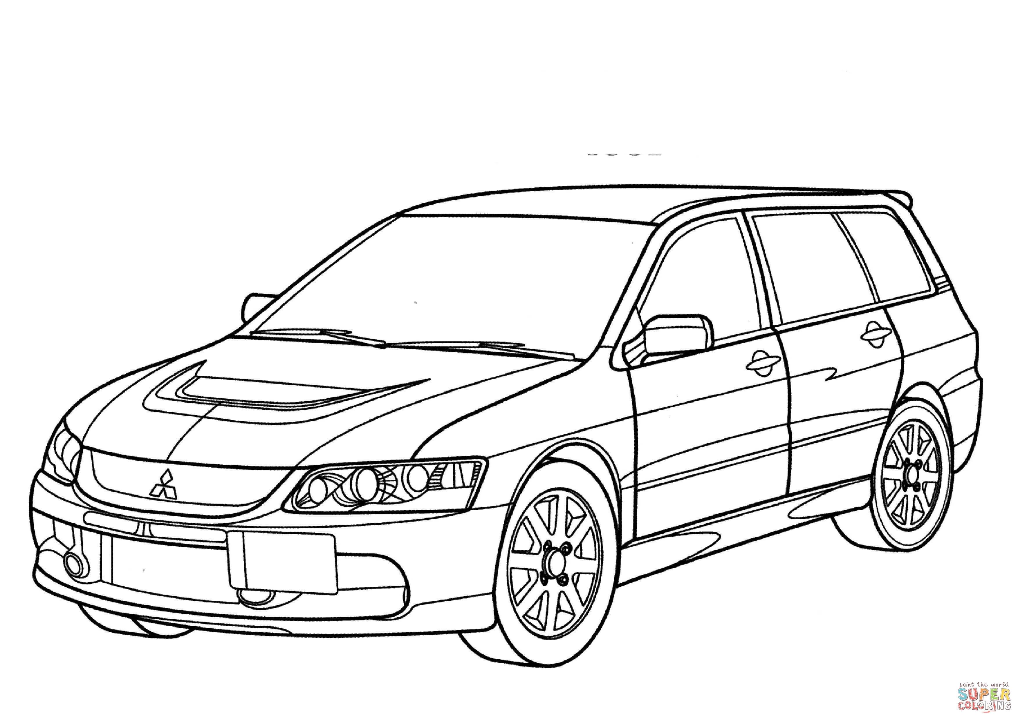 Ausmalbild Mitsubishi Lancer Evolution Wagon Gt