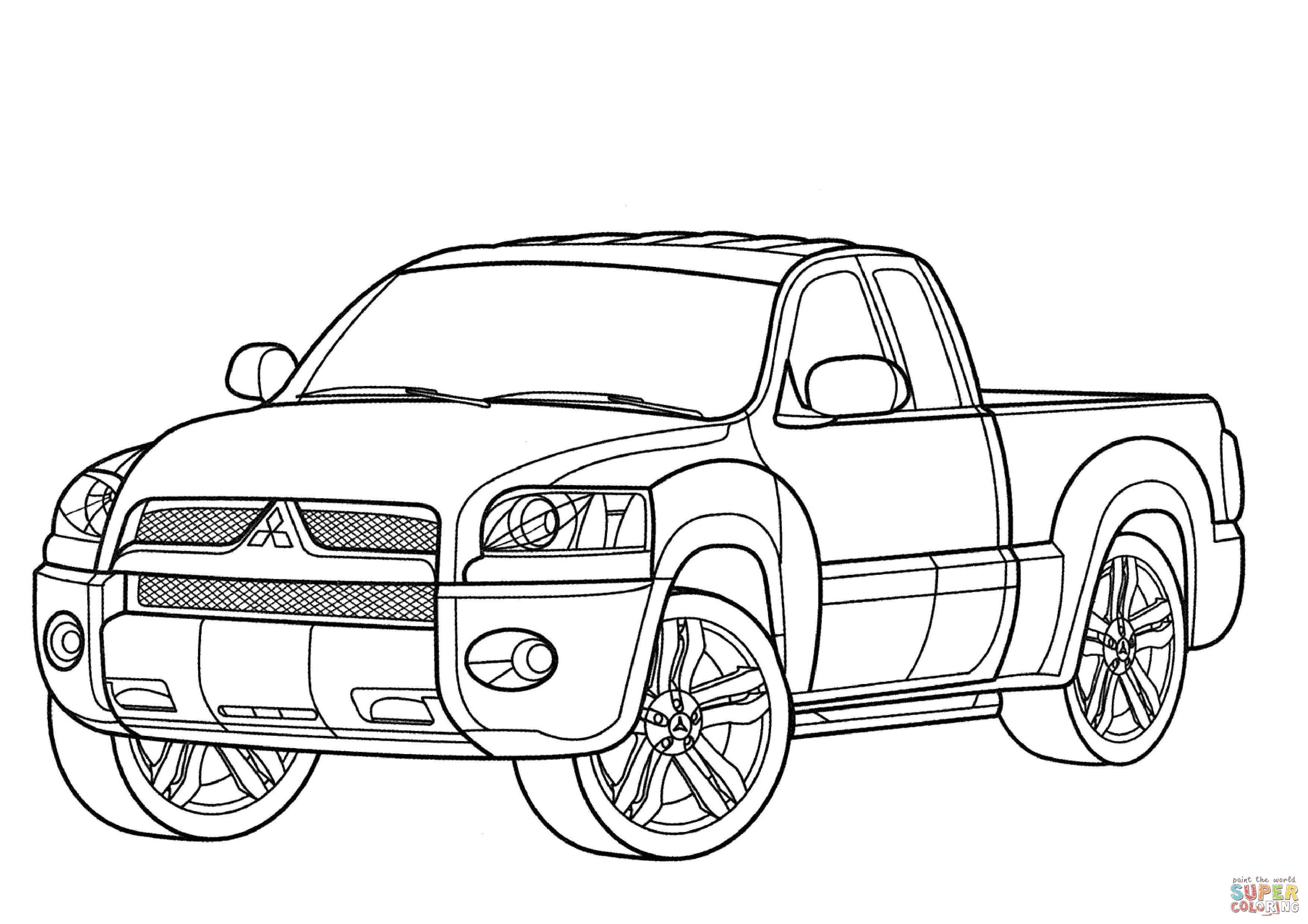 Desenho De Mitsubishi Raider Xls Para Colorir