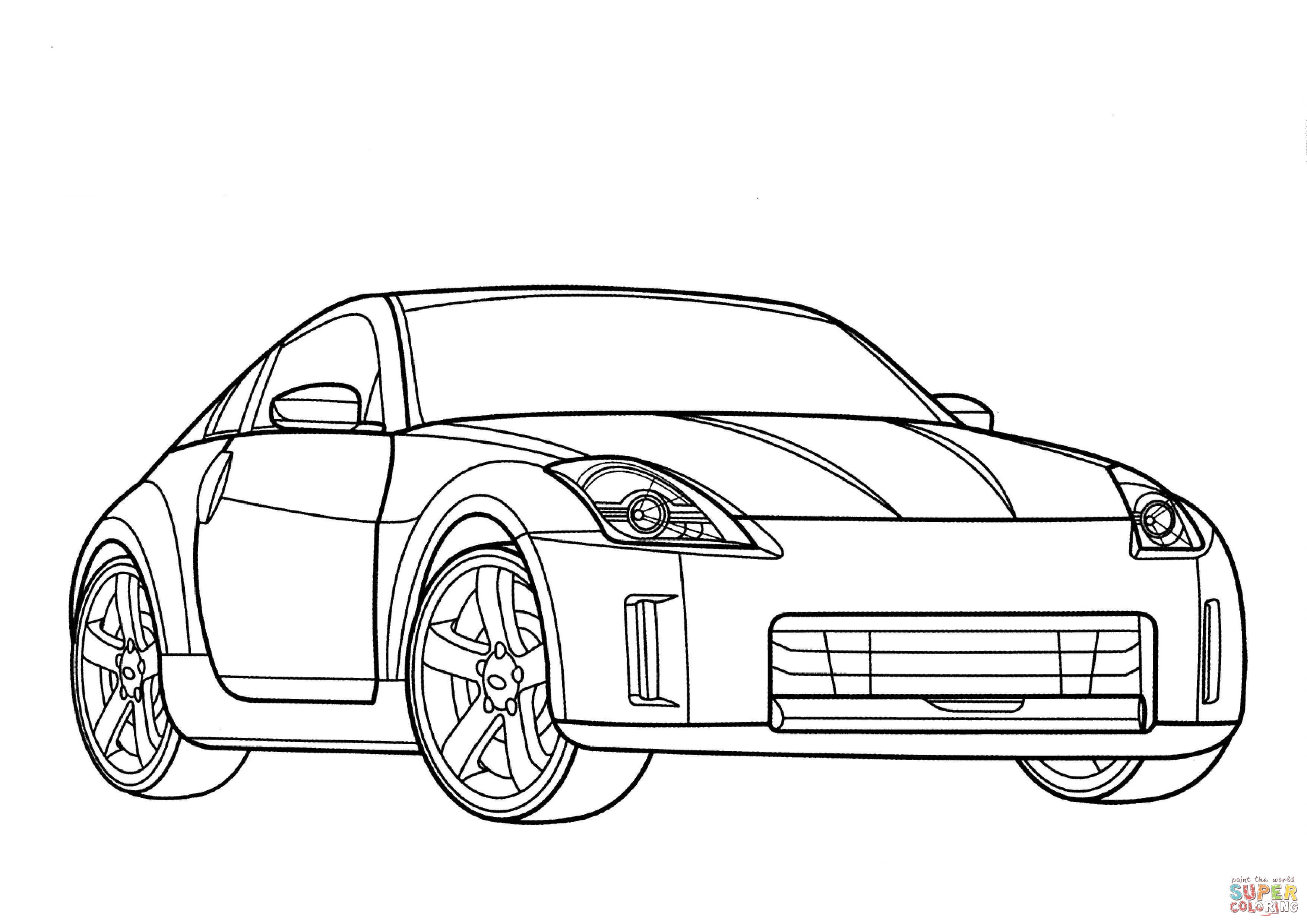 Nissan 350z Coloring Page