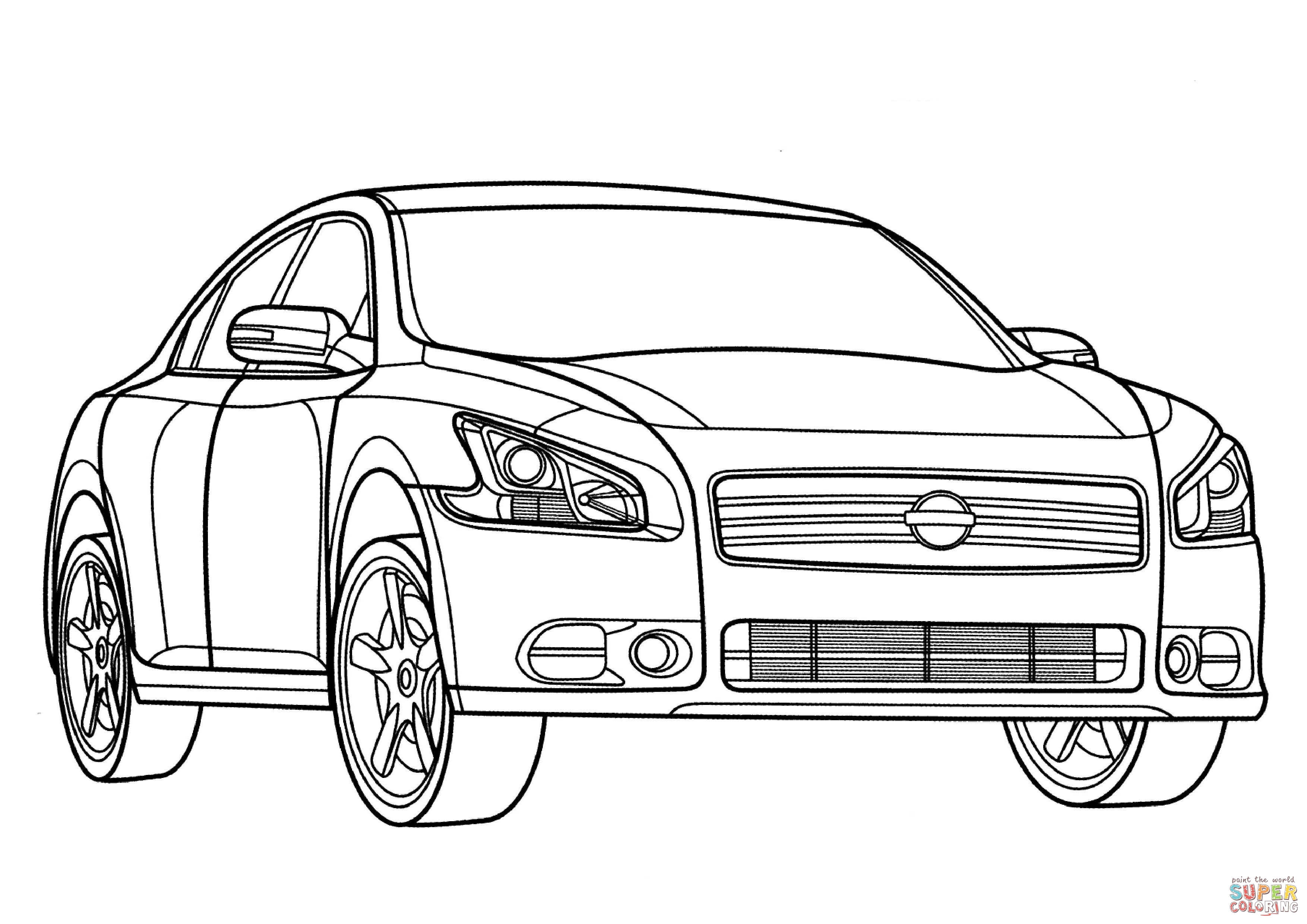 Nissan Skyline Gtr R34 Coloring Pages