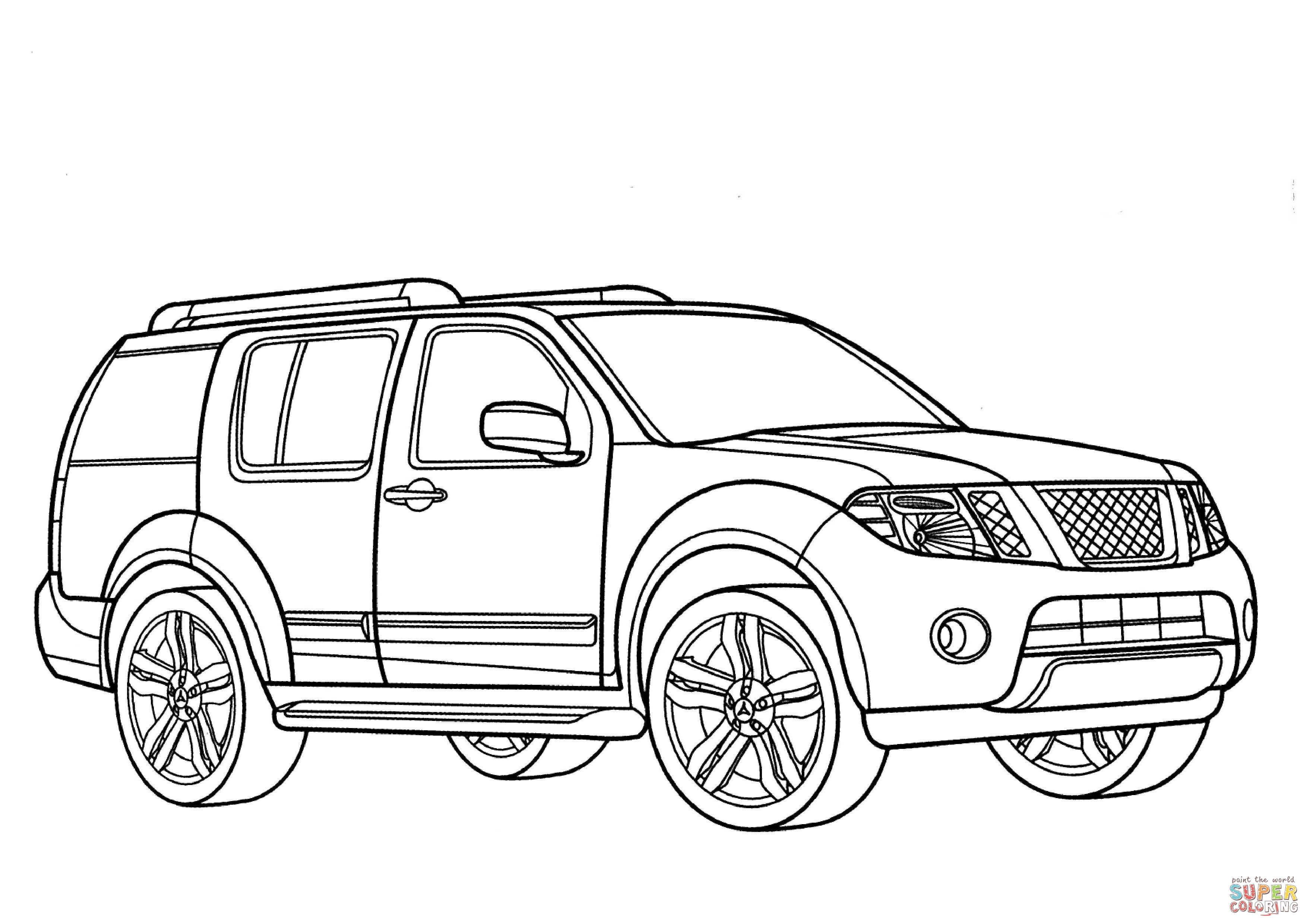 Nissan Pathfinder Coloring Page