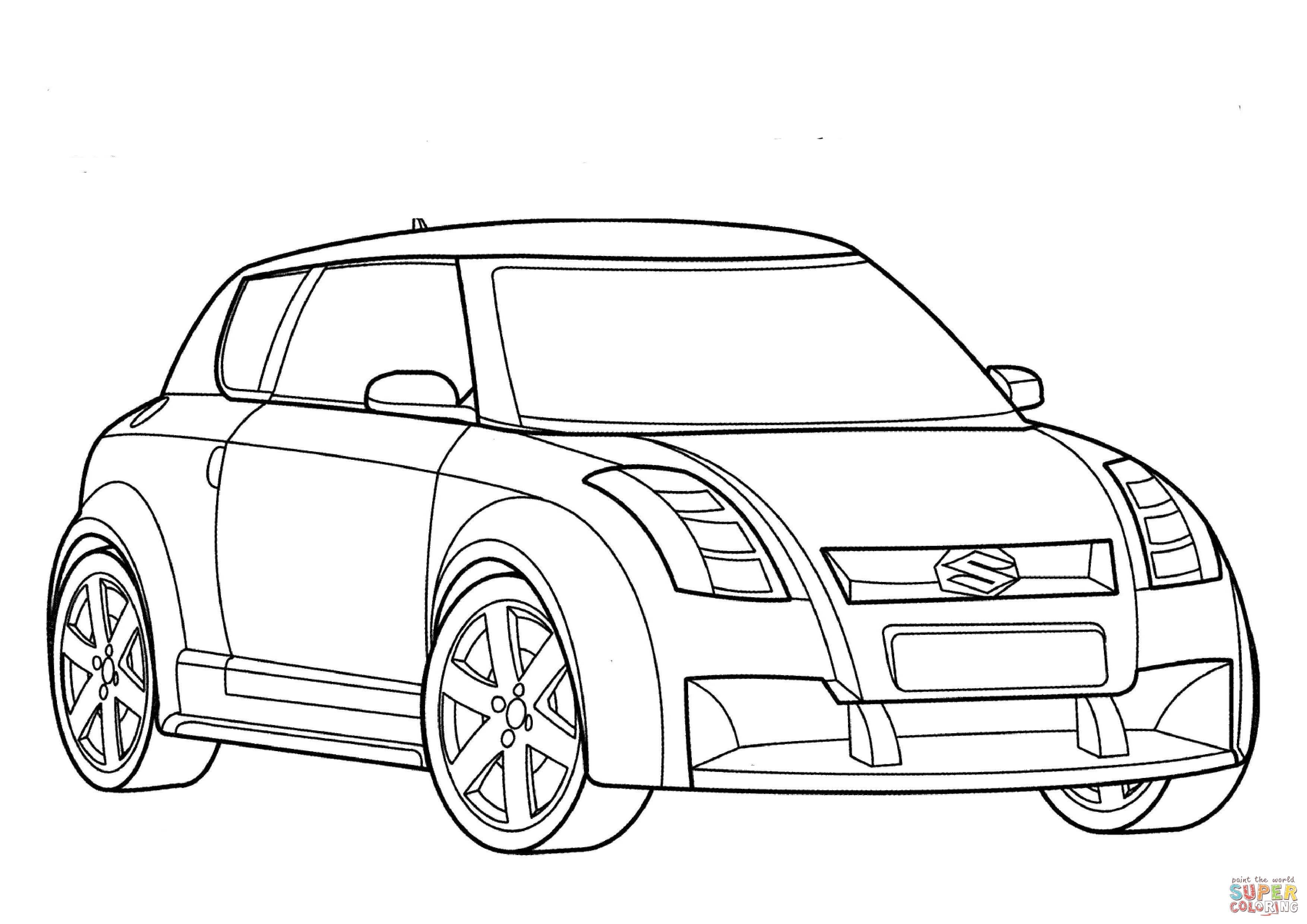 Dibujo De Suzuki Car Para Colorear