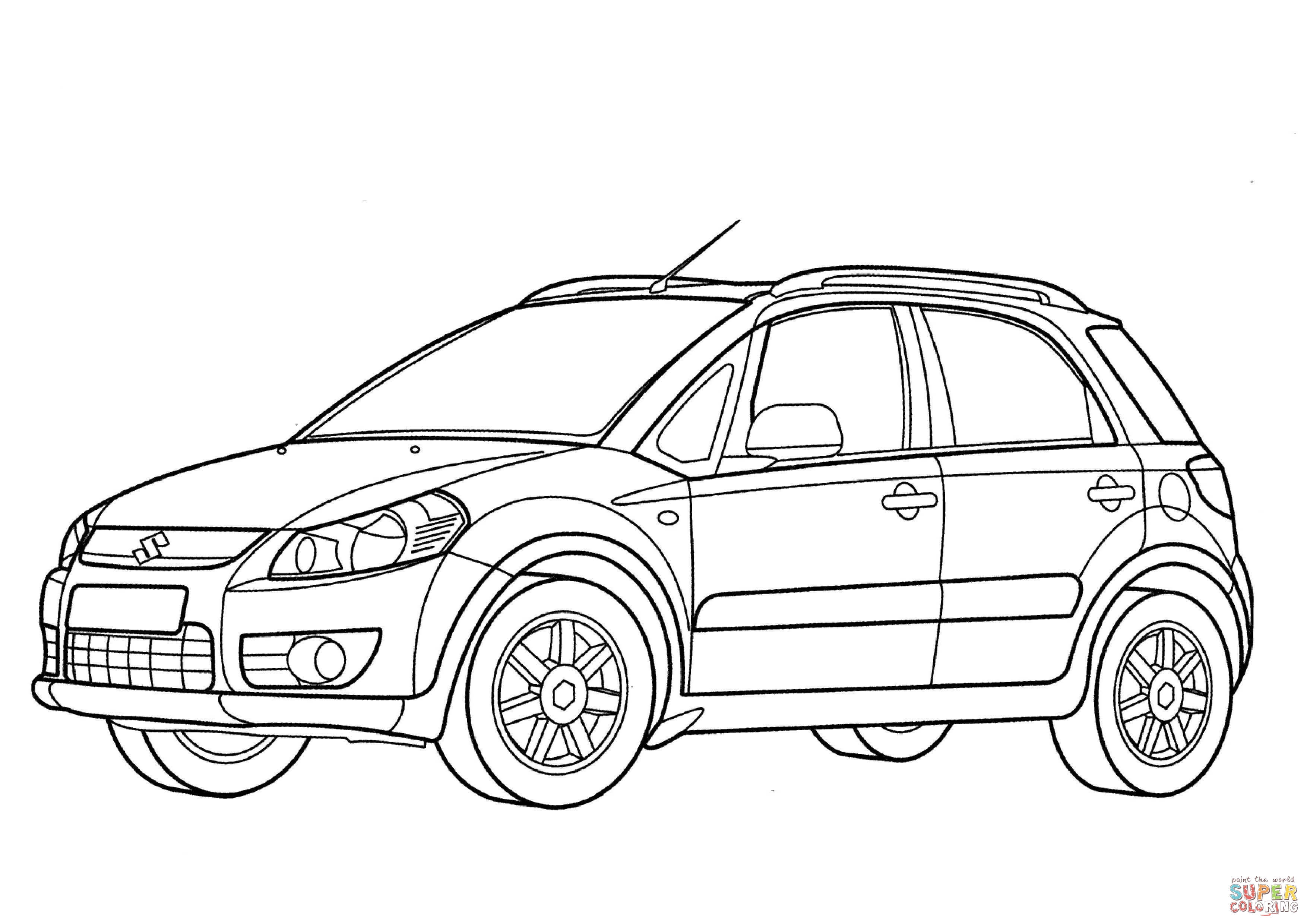 Ford Focus 4 Door Coloring Pages