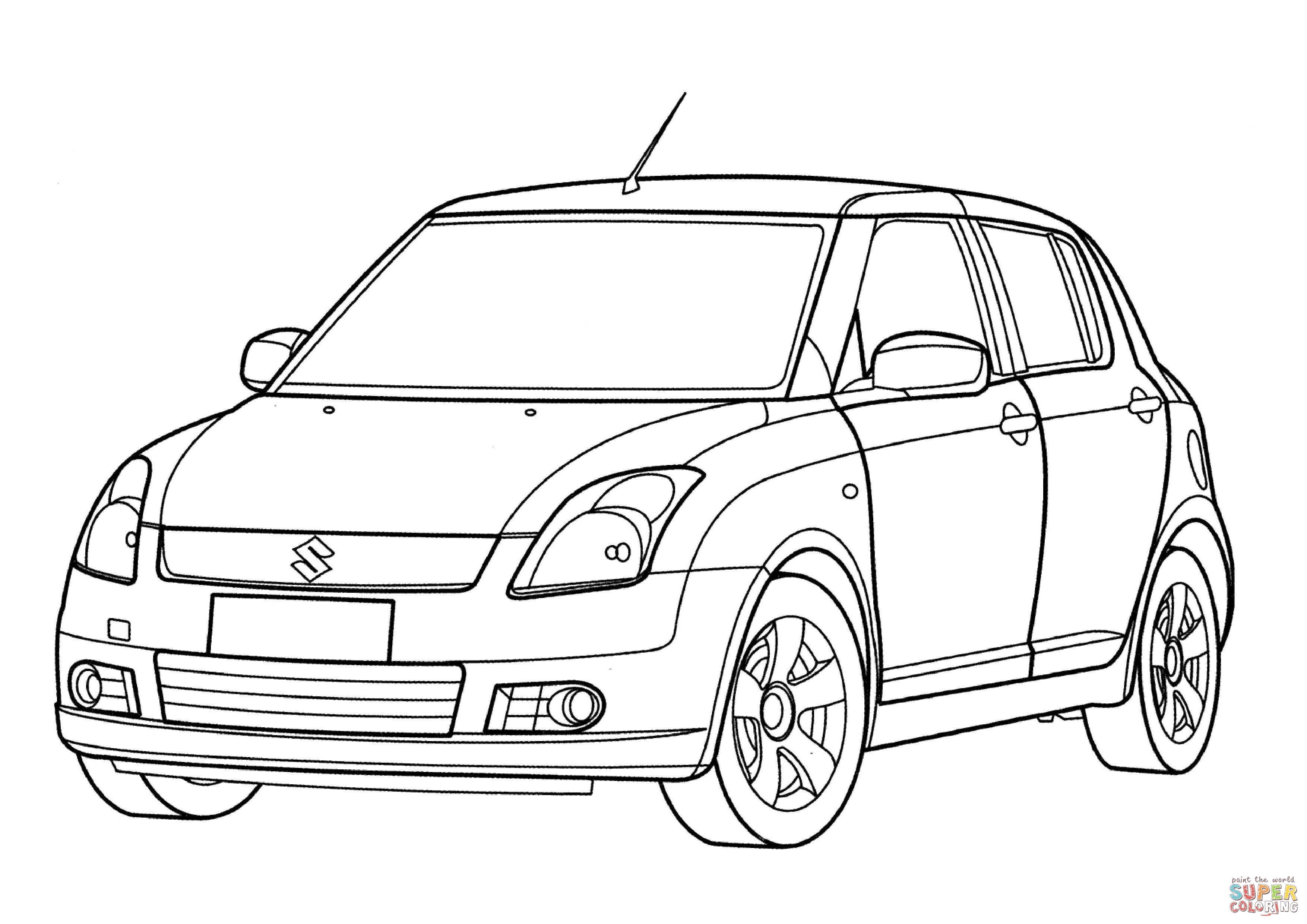 Suzuki Swift Coloring Page