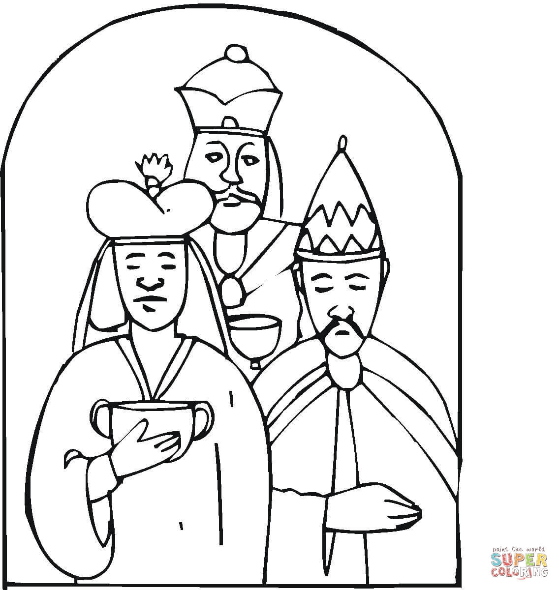Wise Men Came With Ts To Worship Little Jesus Coloring