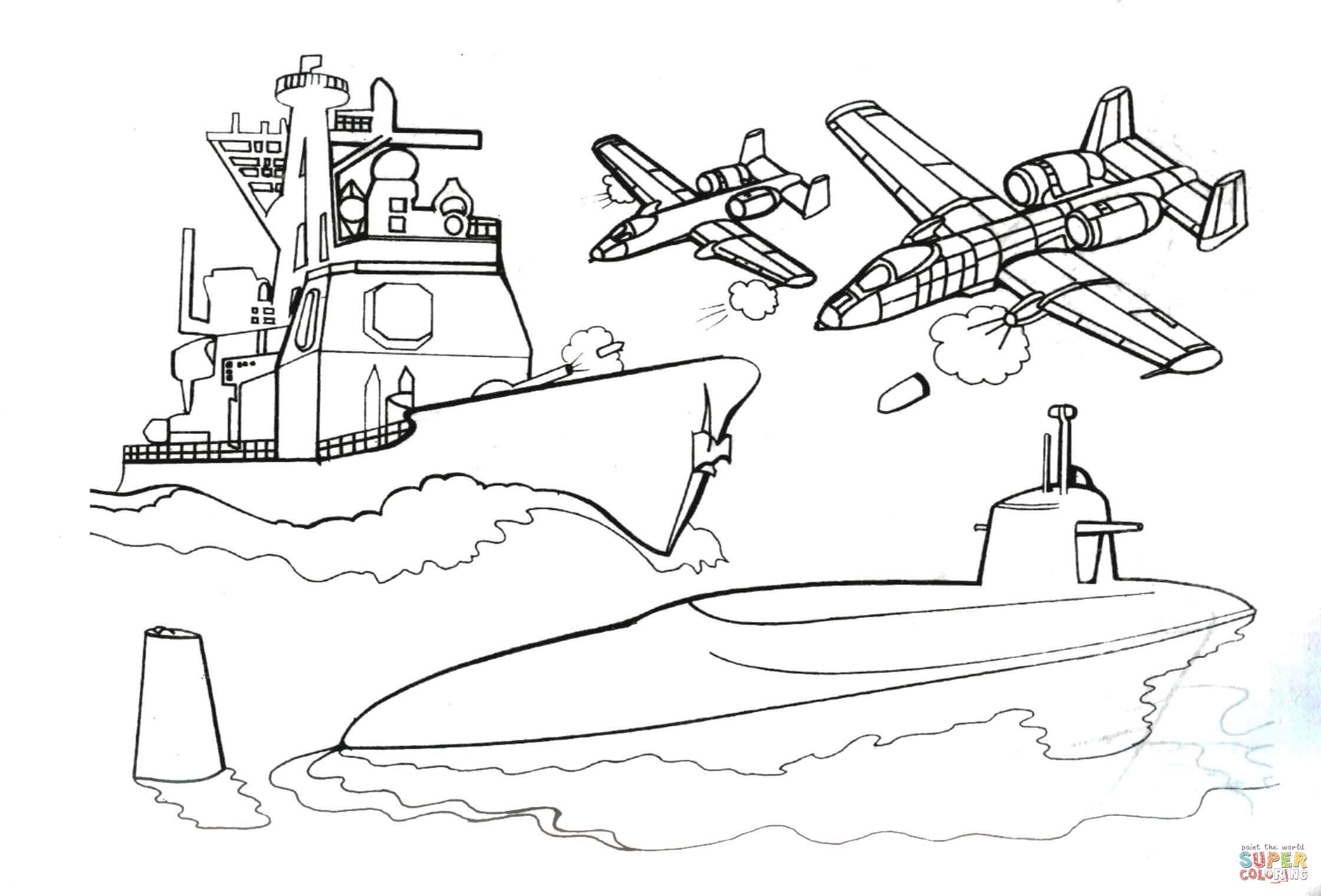 Ing Little Submarine Coloring Page