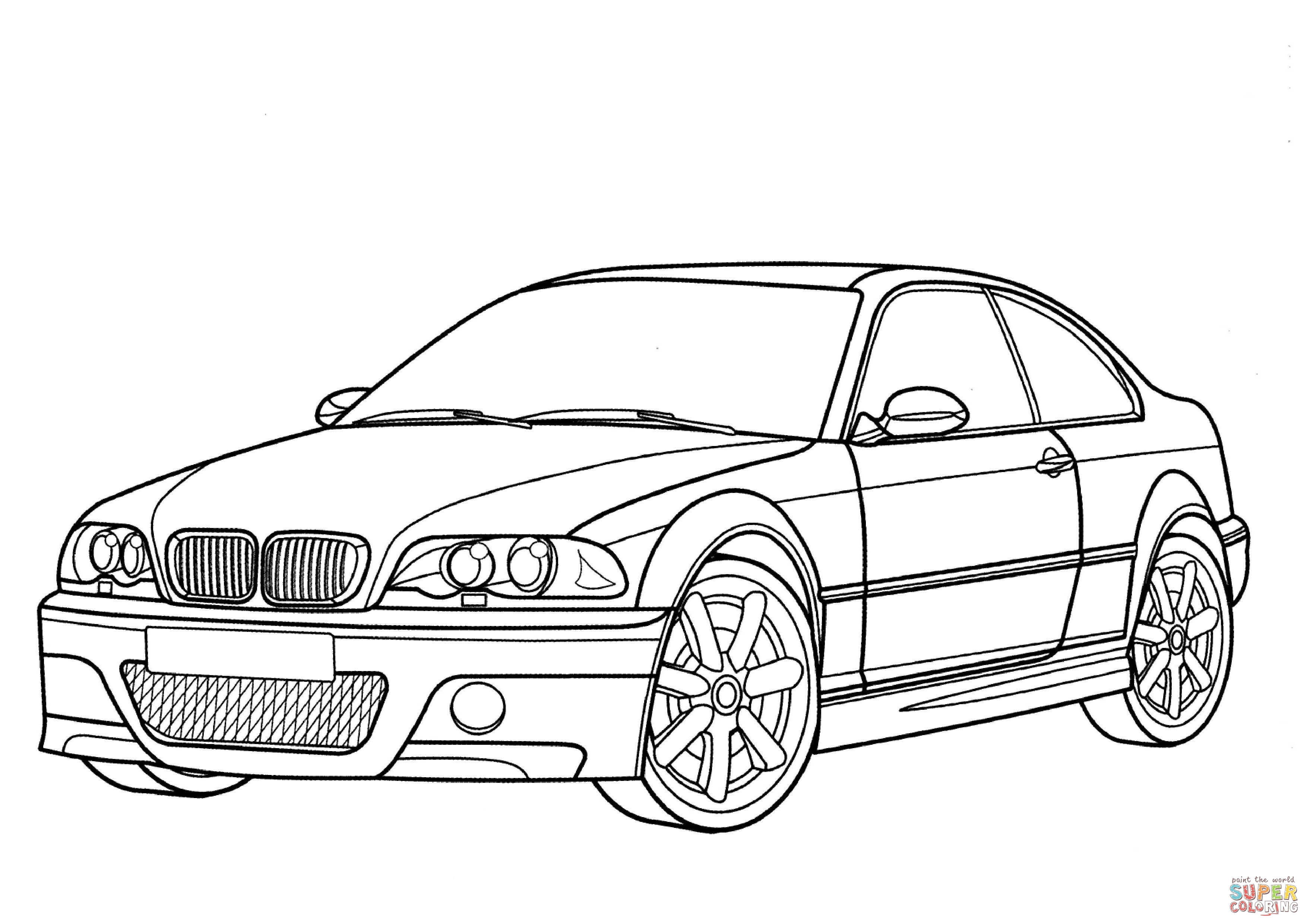 Bmw M3 Coupe Kleurplaat