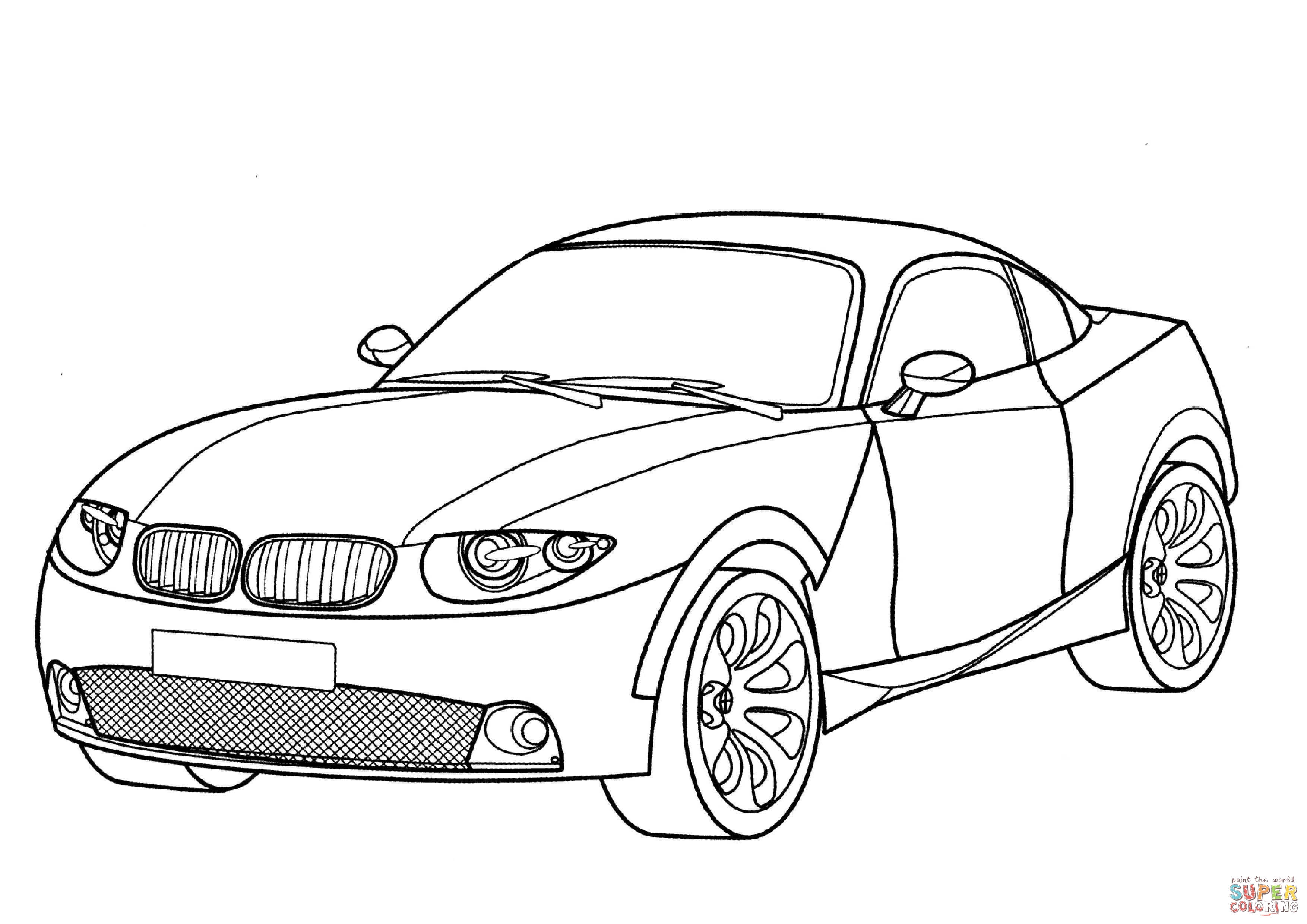 Smart Fortwo coloring page | Free Printable Coloring Pages | 2480x3508