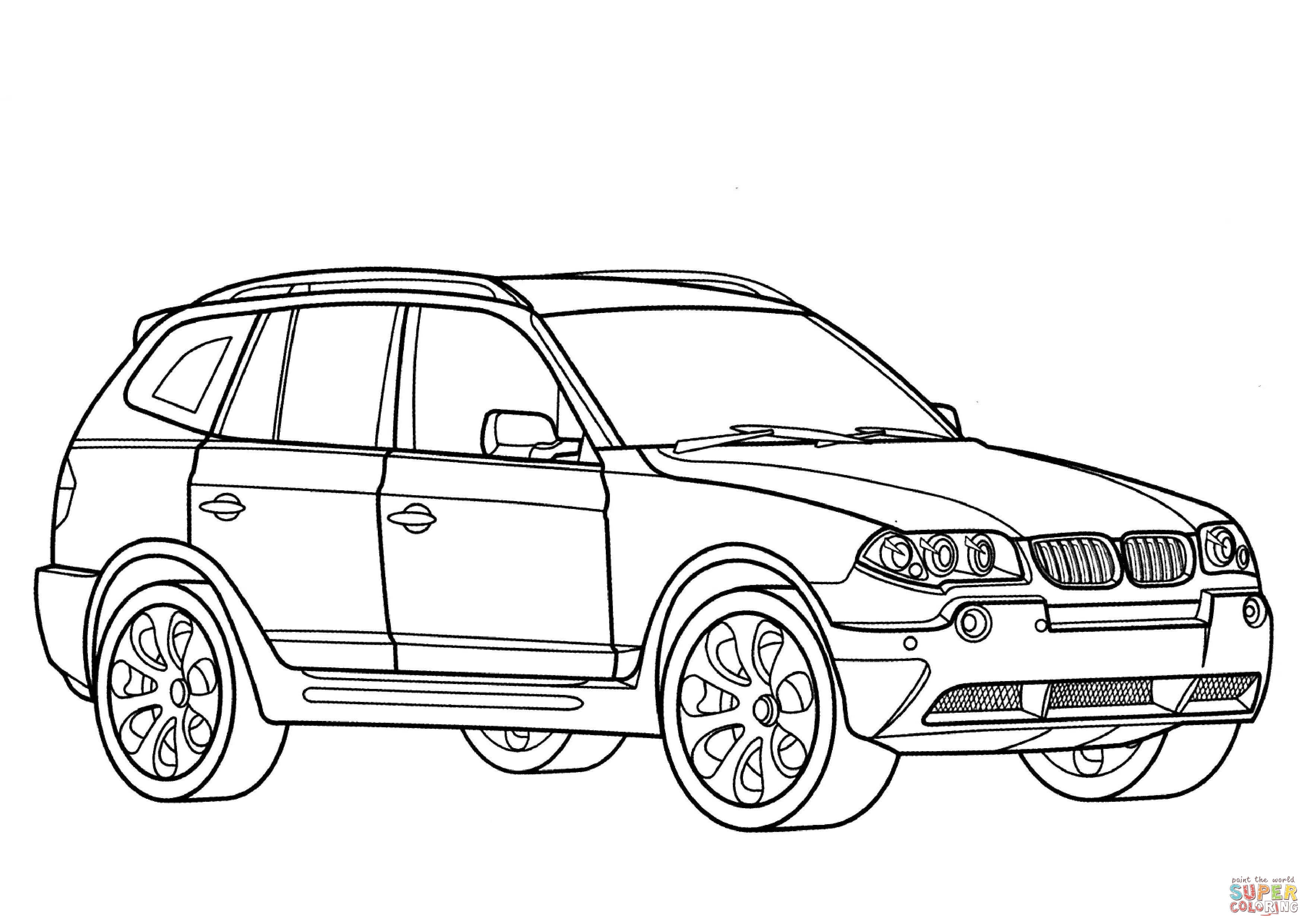Bmw X3 Coloring Page