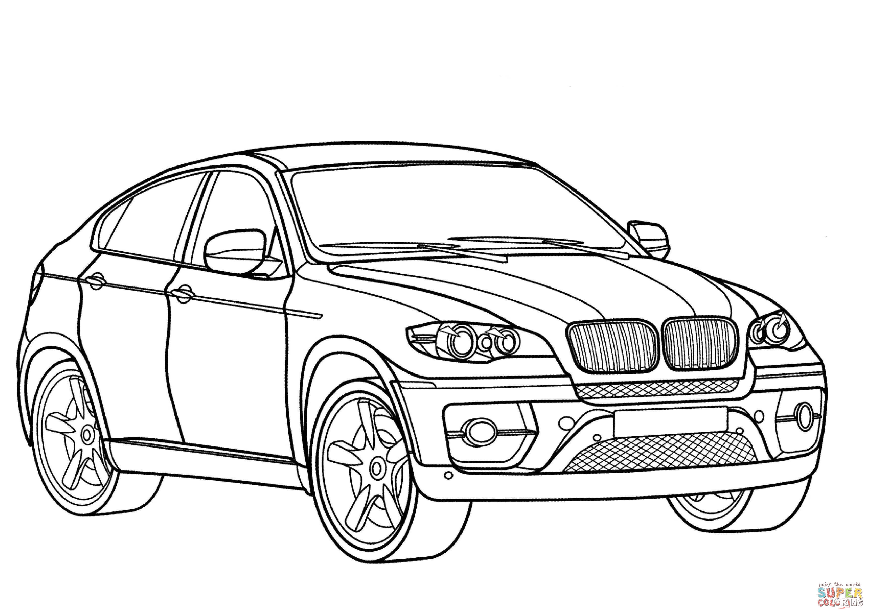Bmw X6 Coloring Page