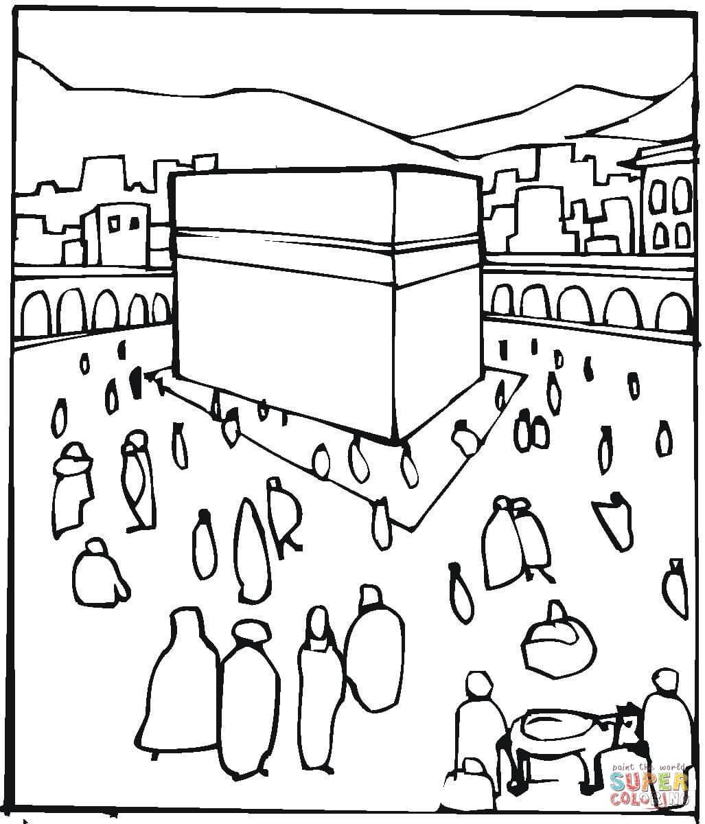 Pilgrimage To Mekkah Coloring Page