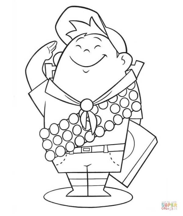 Russell 8year old Wilderness Explorer coloring page