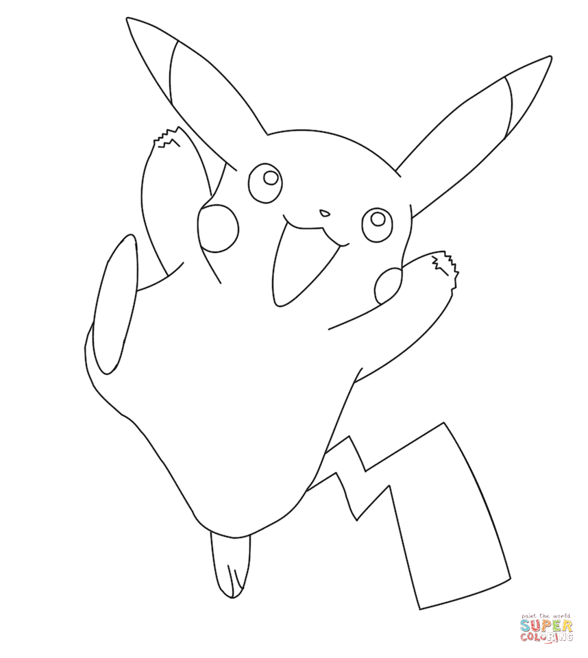 Pikachu Coloring Page Free Printable Coloring Pages