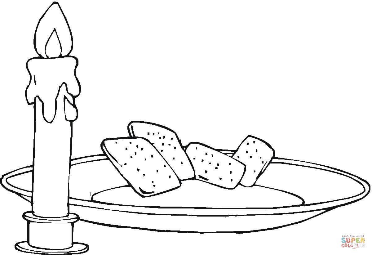 Kolorowanka Wieca I Chleb