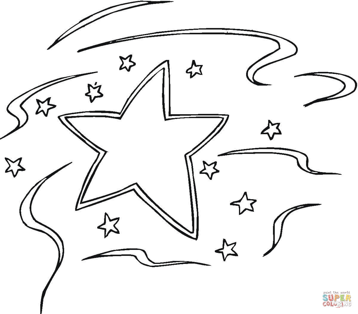 Decoration Star Coloring Page