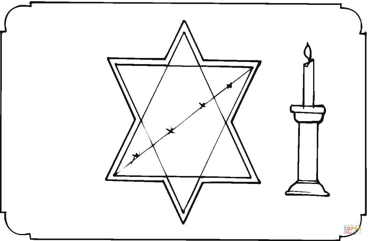 Holocaust Memory Coloring Page