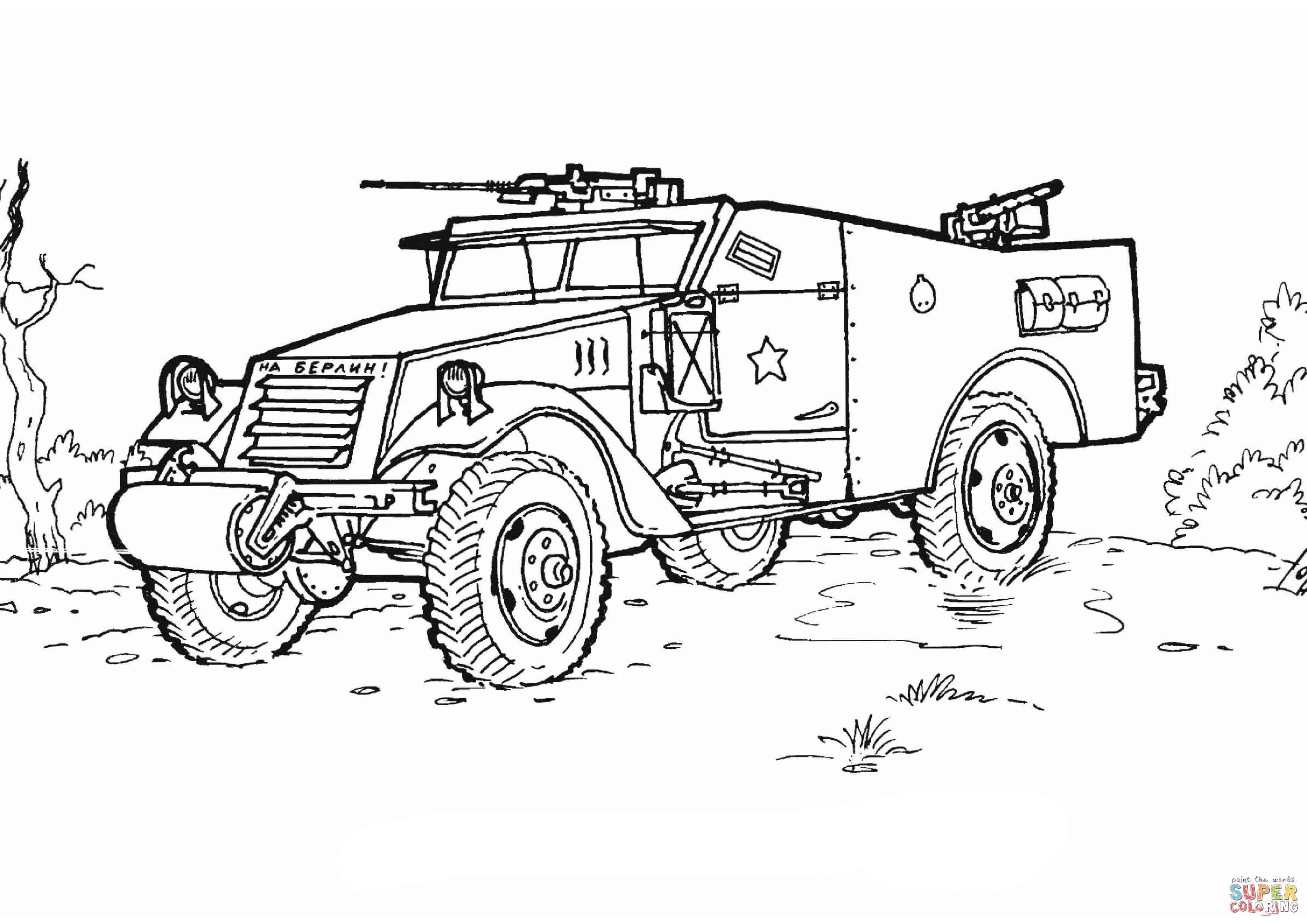 Ausmalbild Gepanzerter Truppentransporter