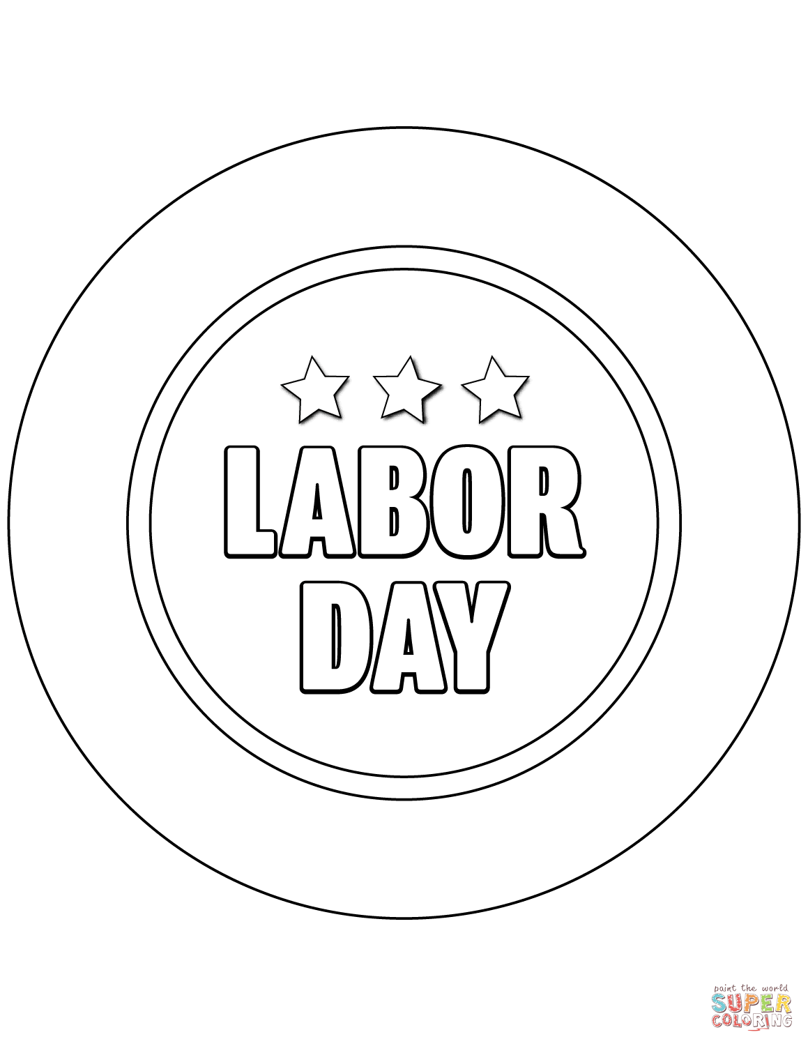 Labor Day Poster Coloring Page