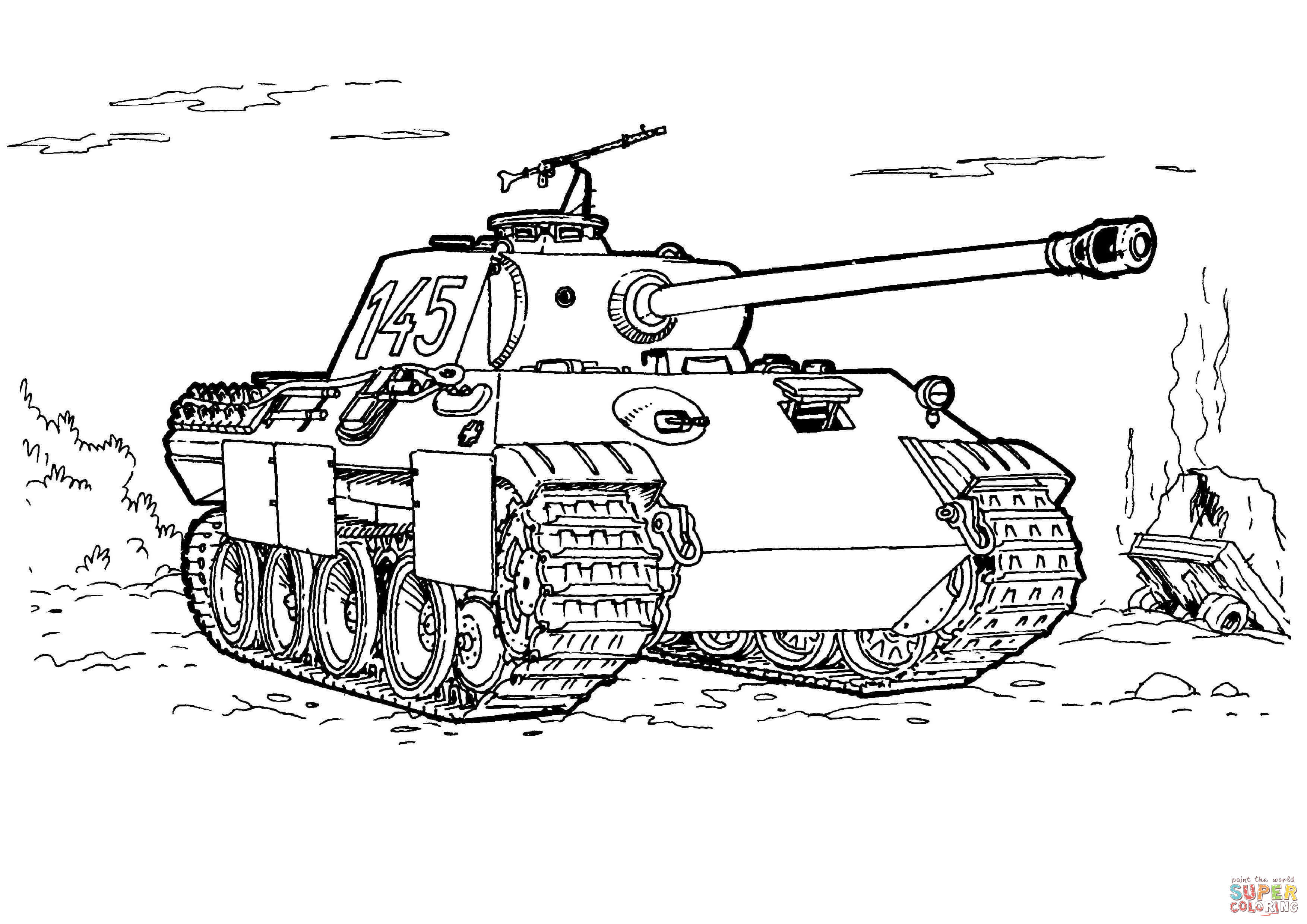 Panther Tank Coloring Page