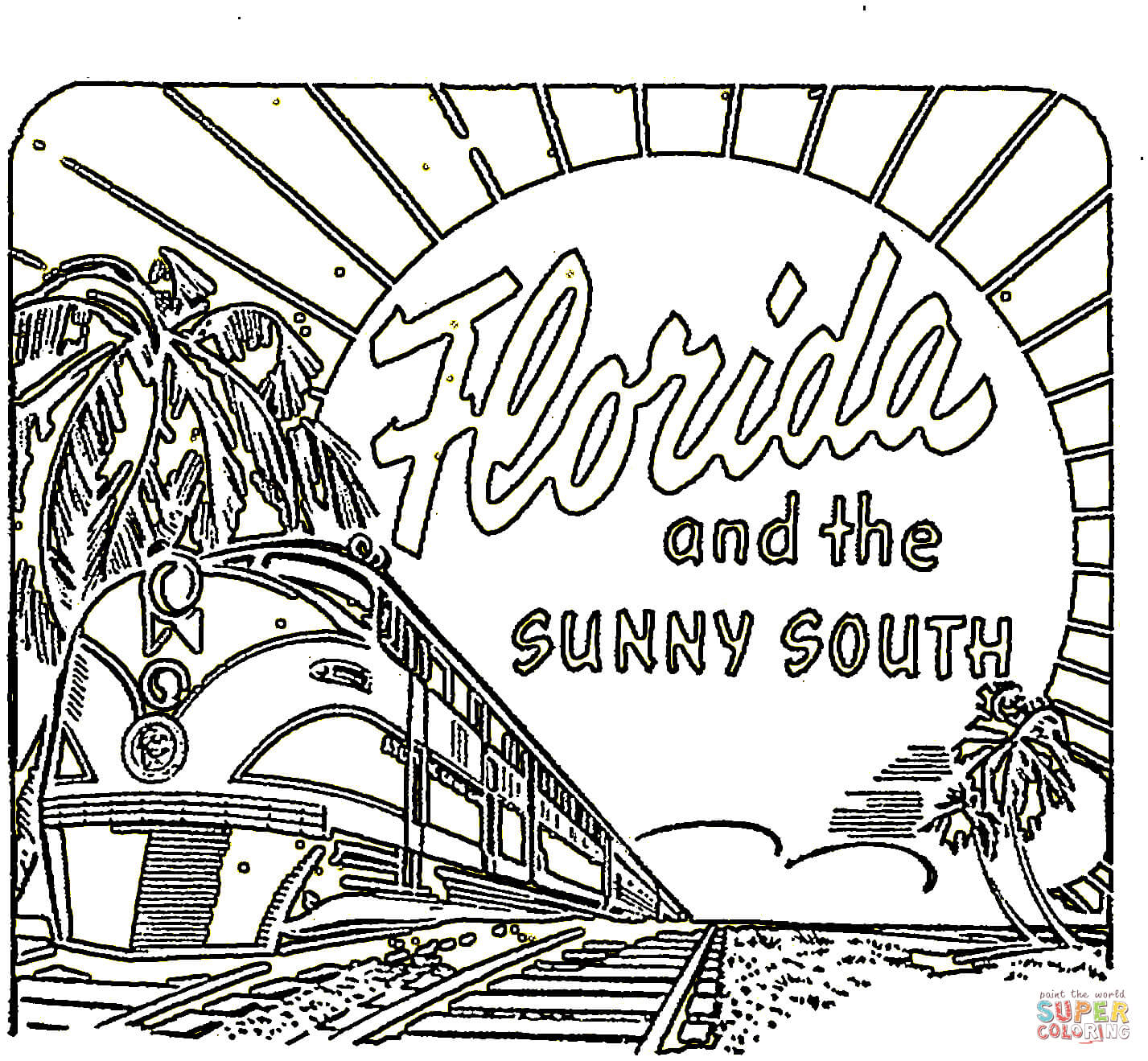 Card From Florida Coloring Page Free Printable Coloring Pages