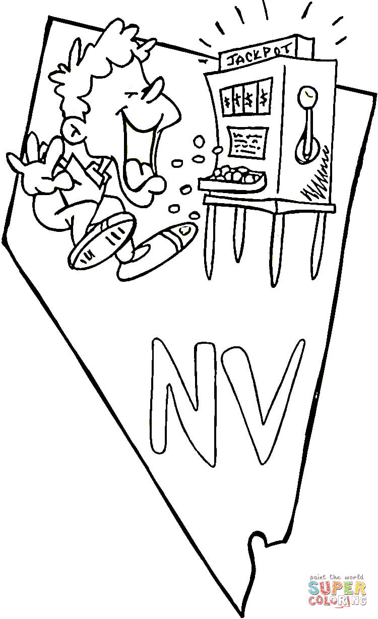 Nevada Coloring Page Free Printable Coloring Pages