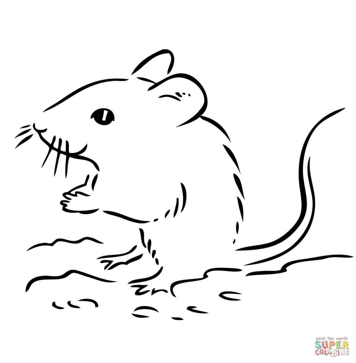 Cute Deer Mouse Coloring Page