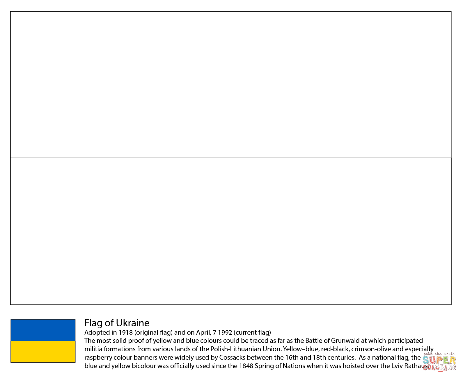 Ukraine Map Coloring Pages