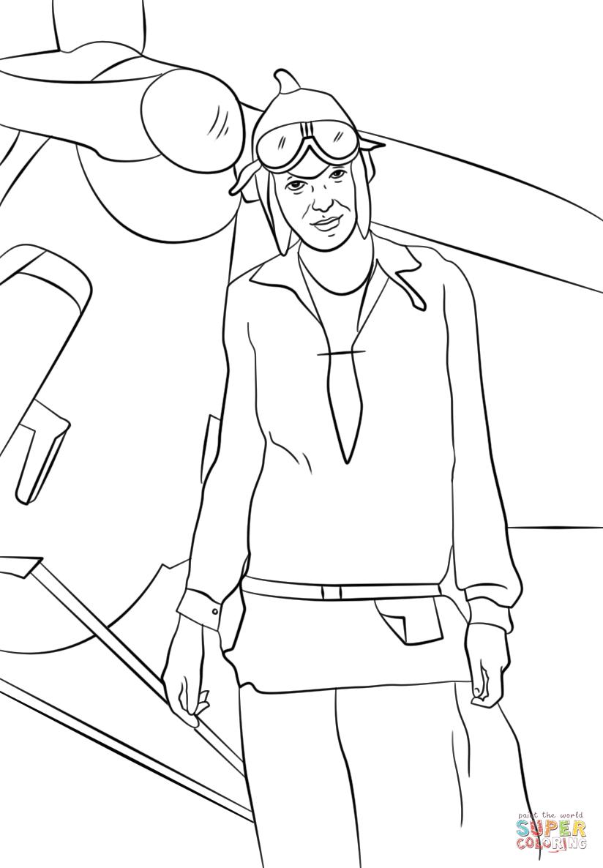 Amelia Earhart Plane Color