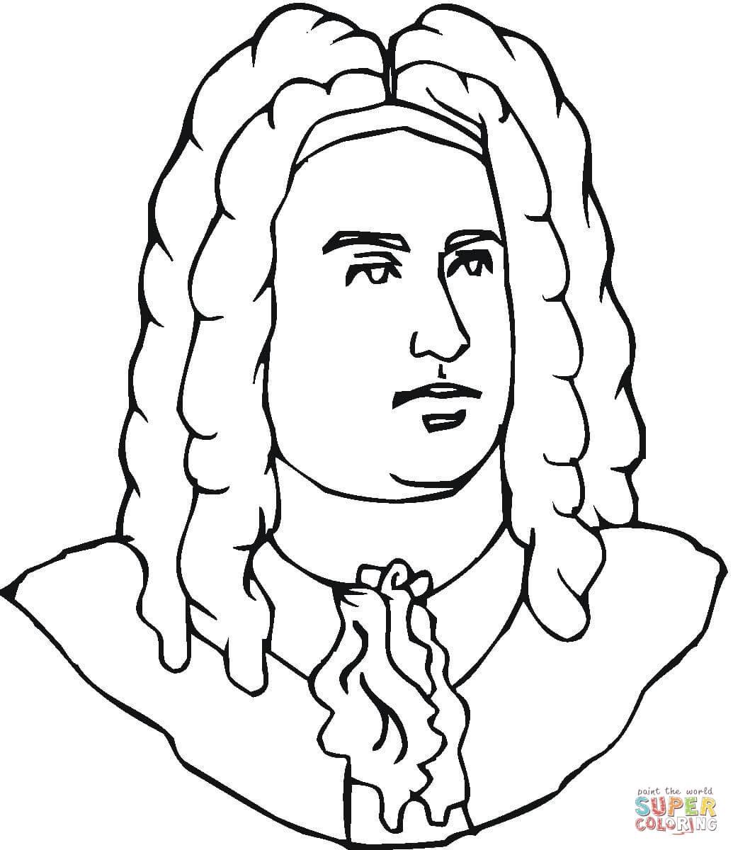George Handel Coloring Page