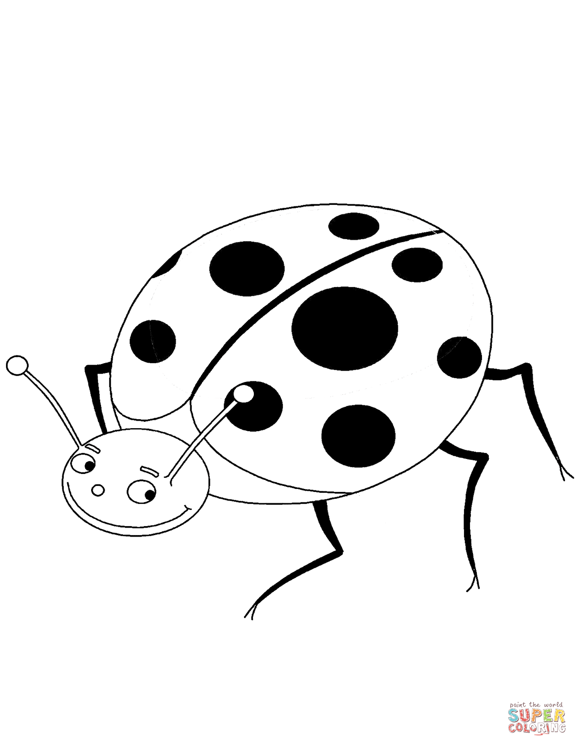 Picture Of Ladybug To Color
