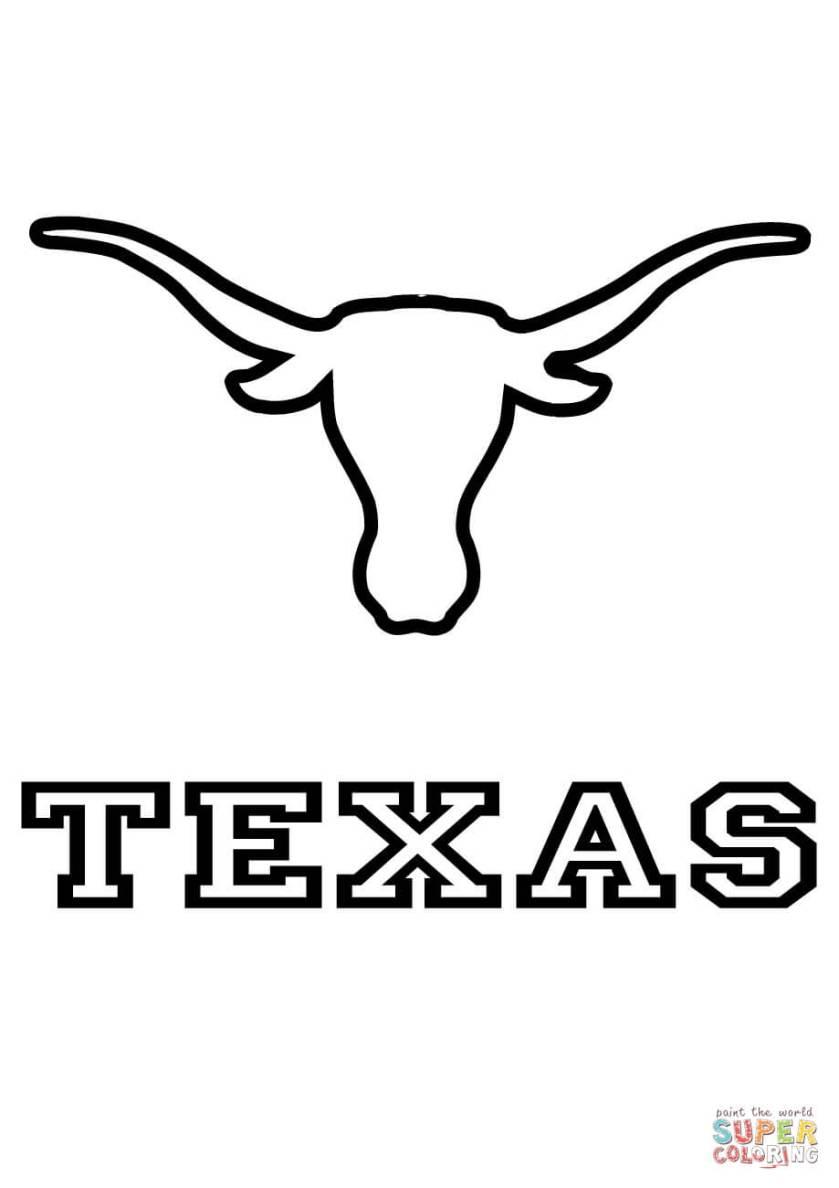 longhorns texas team coloring page  free printable