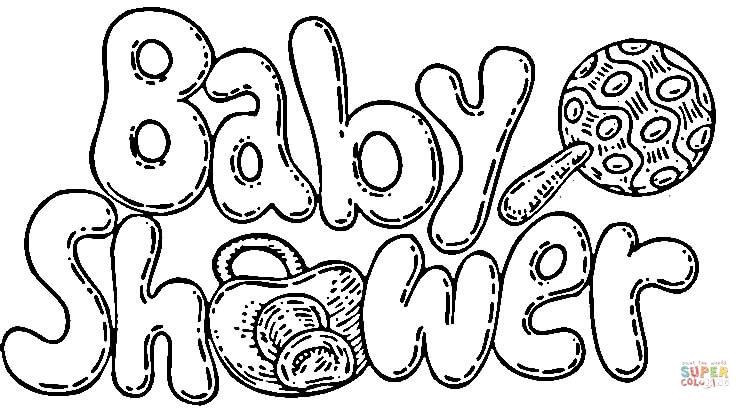 dibujo de fiesta baby shower para colorear  dibujos para