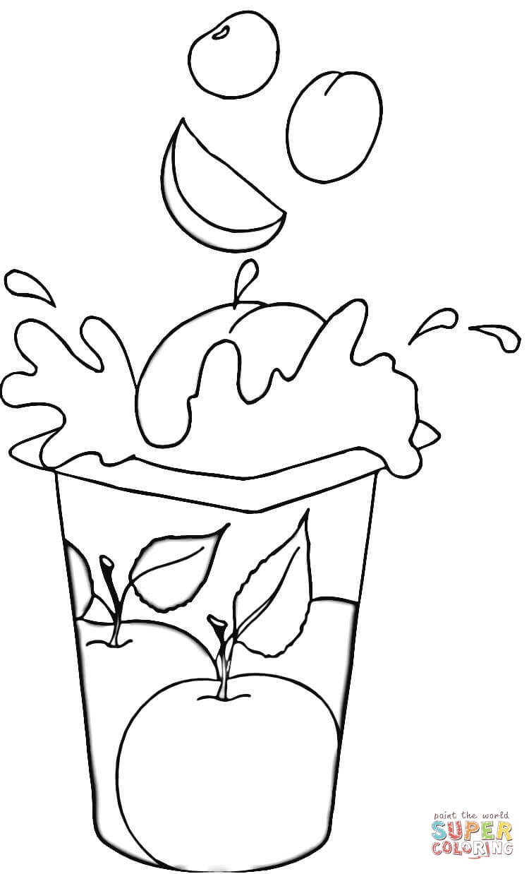 Fruit Yogurt Coloring Page Free Printable Coloring Pages