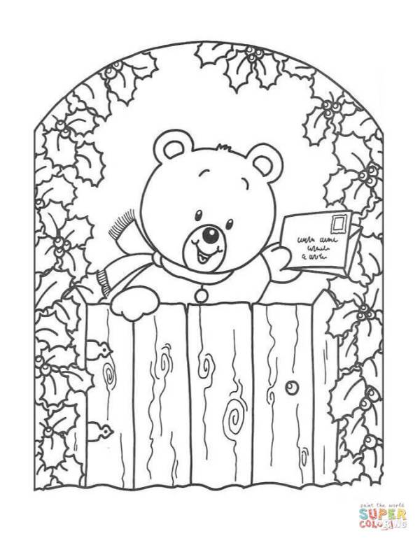 christmas card coloring pages # 7