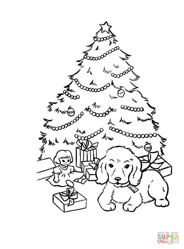 christmas trees coloring pages # 17
