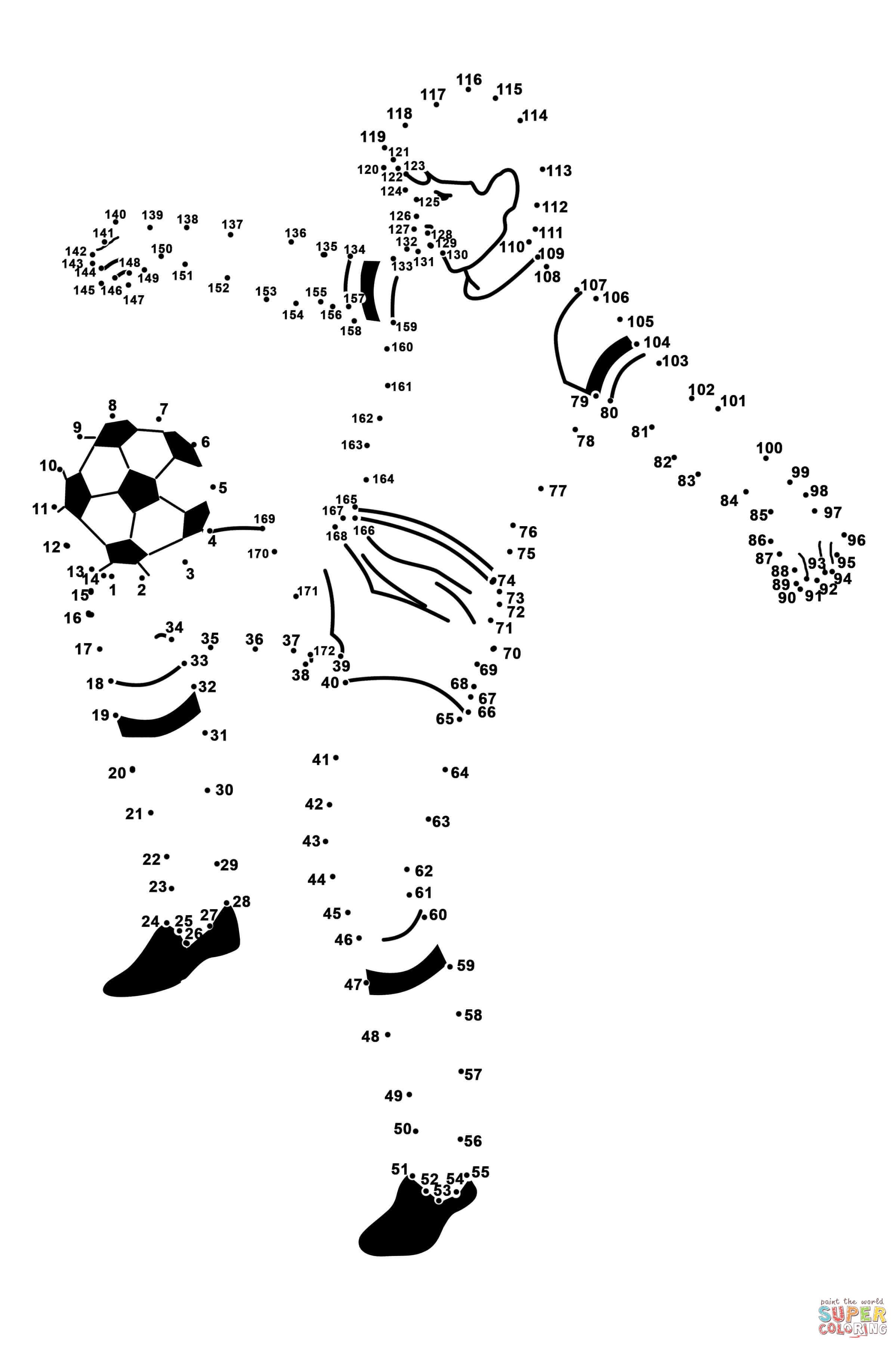 Soccer Player Dot To Dot