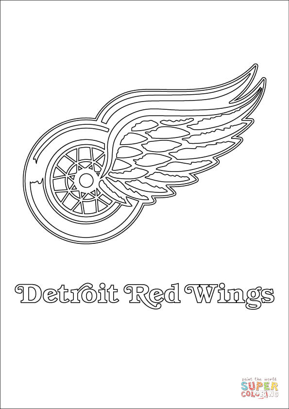 Detroit Red Wings Logo Coloring Page Free Printable