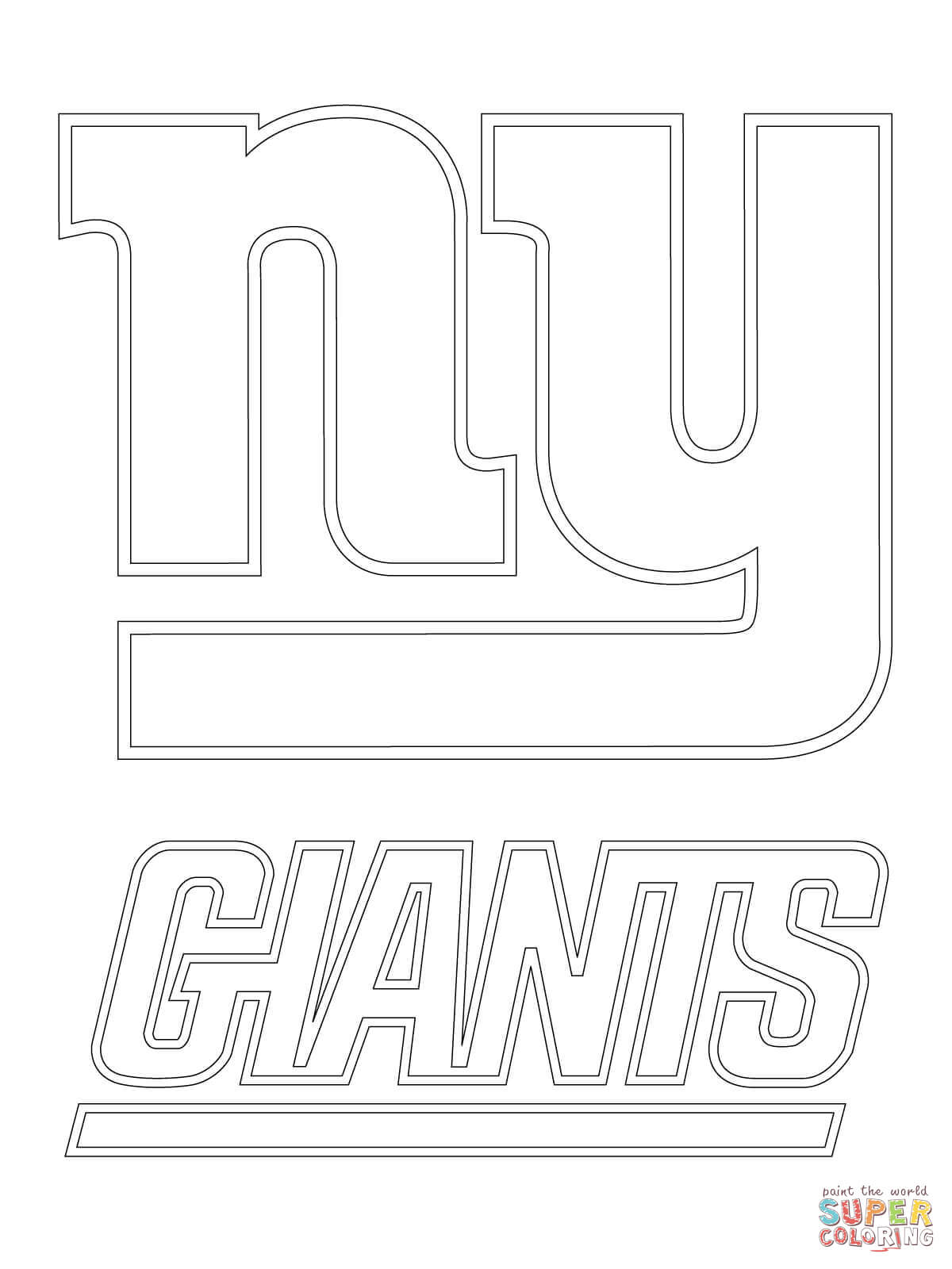 New York Giants Logo Coloring Page