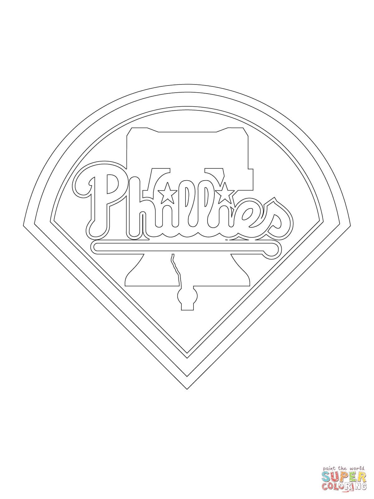 Philadelphia Phillies Logo Coloring Page