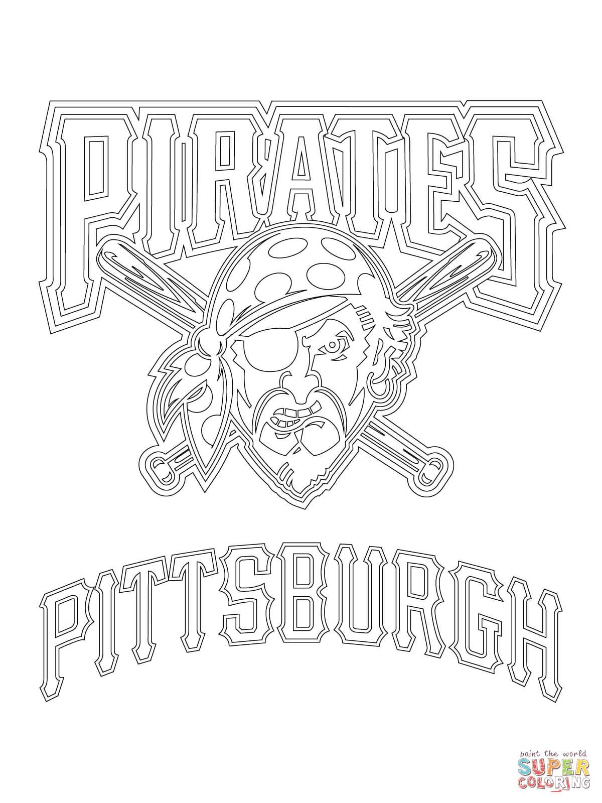 Pittsburgh Pirates Logo Coloring Page
