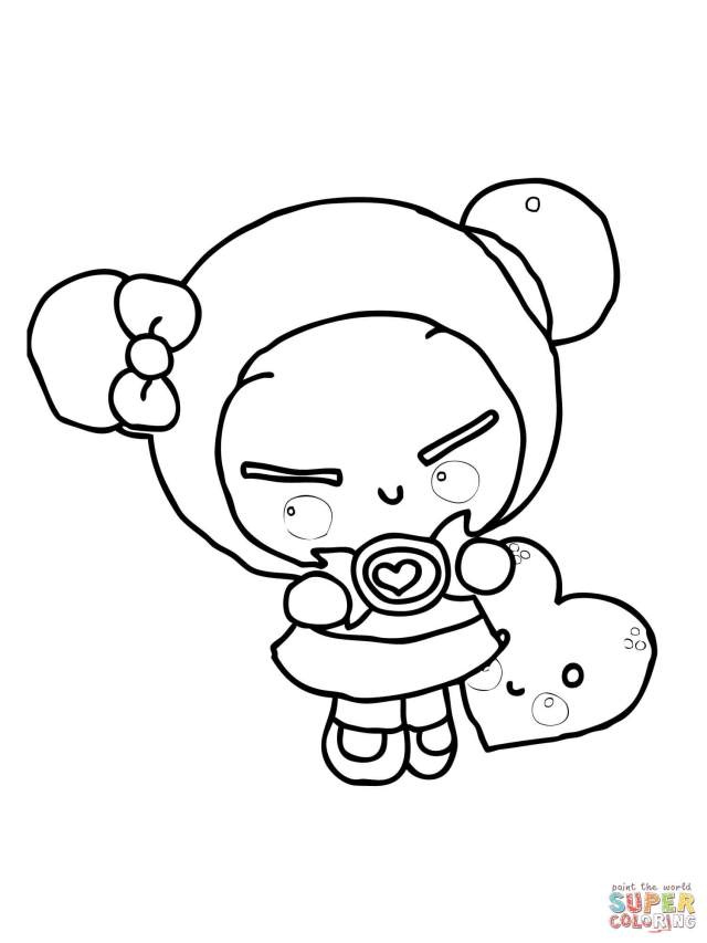 Pucca Is Sucking On A Dummy coloring page  Free Printable